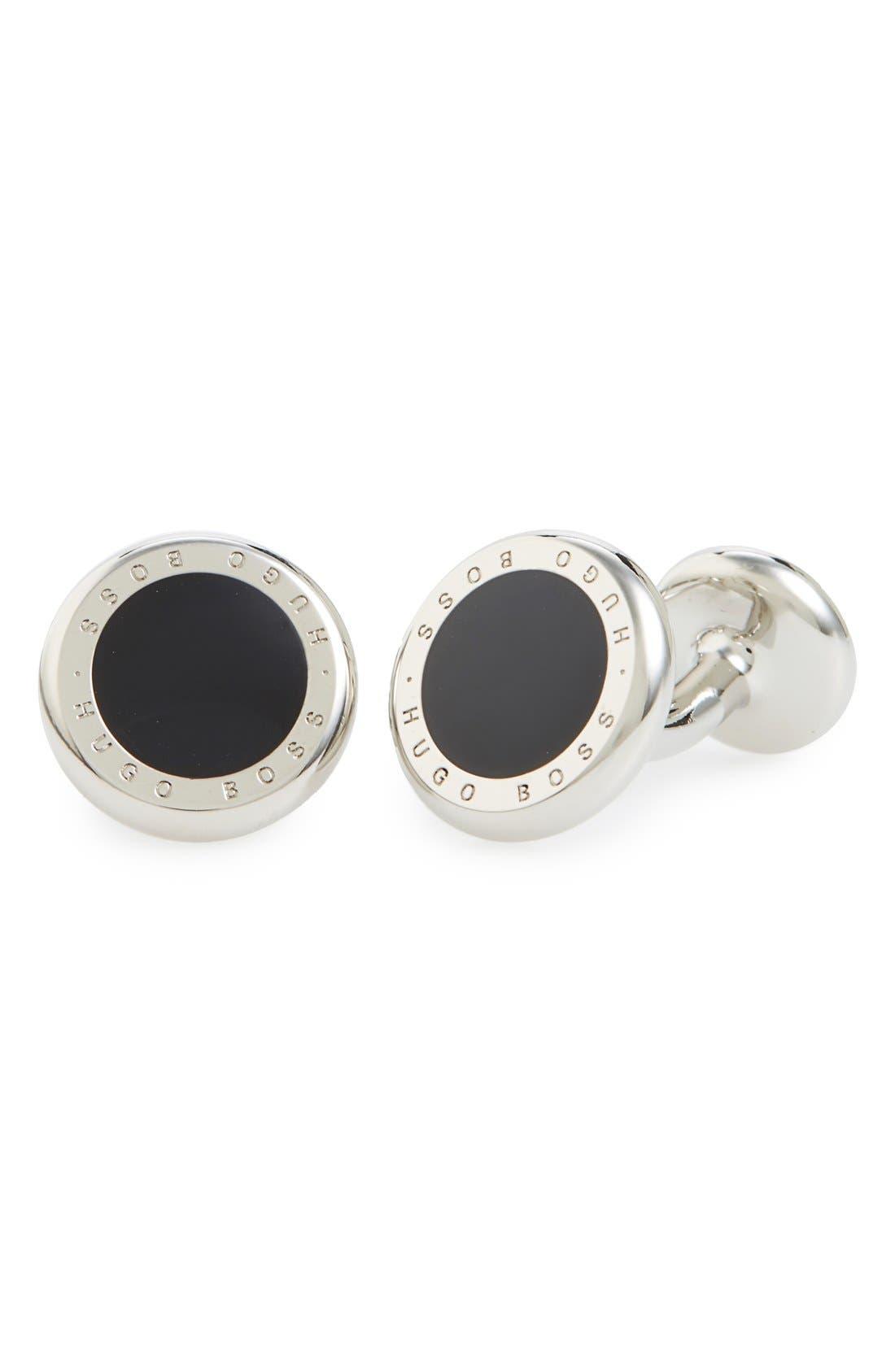 Tobin Cuff Links, Main, color, BLACK