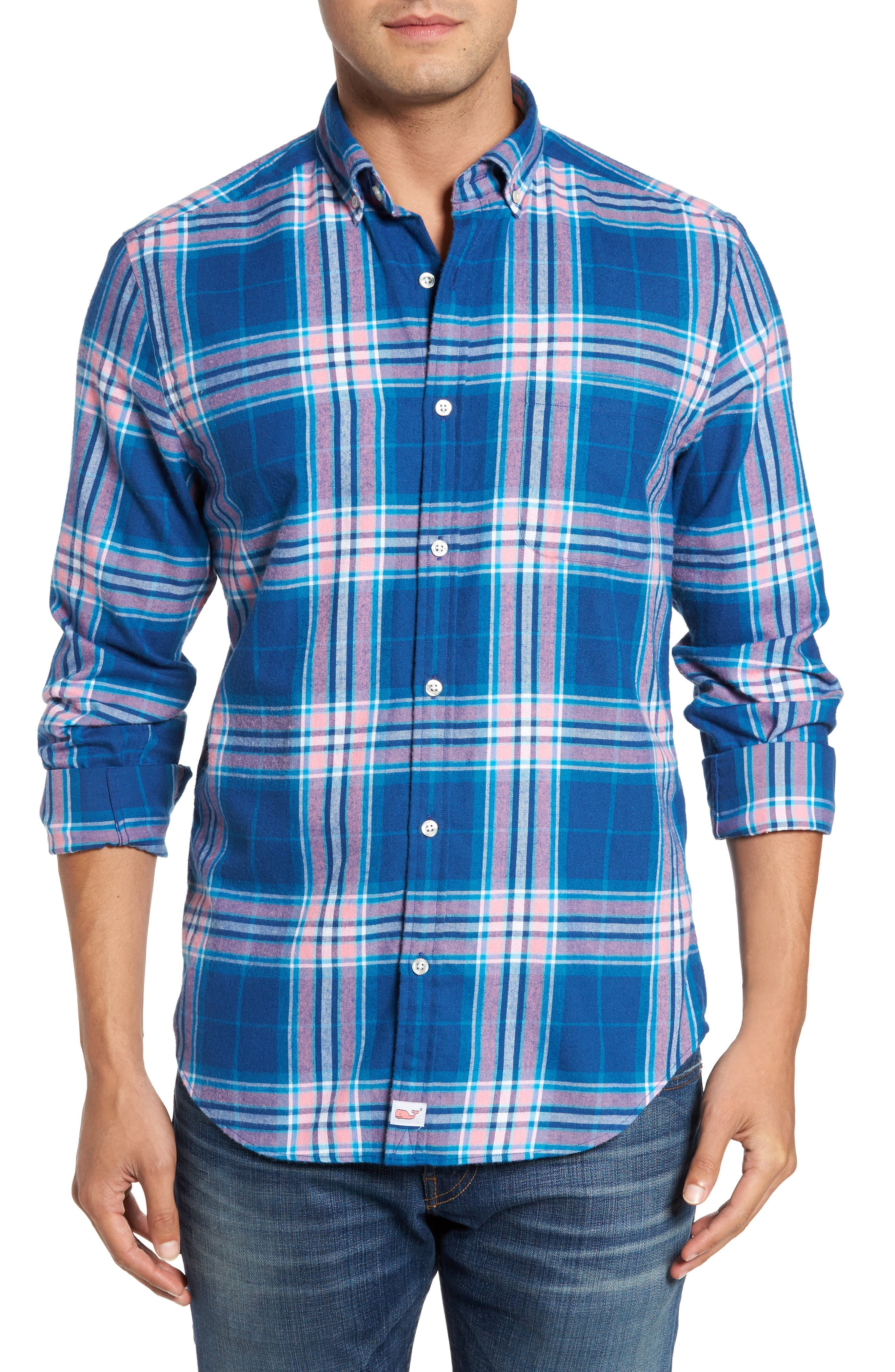 Murray Classic Fit Point Lobos Plaid Flannel Sport Shirt,                             Main thumbnail 1, color,