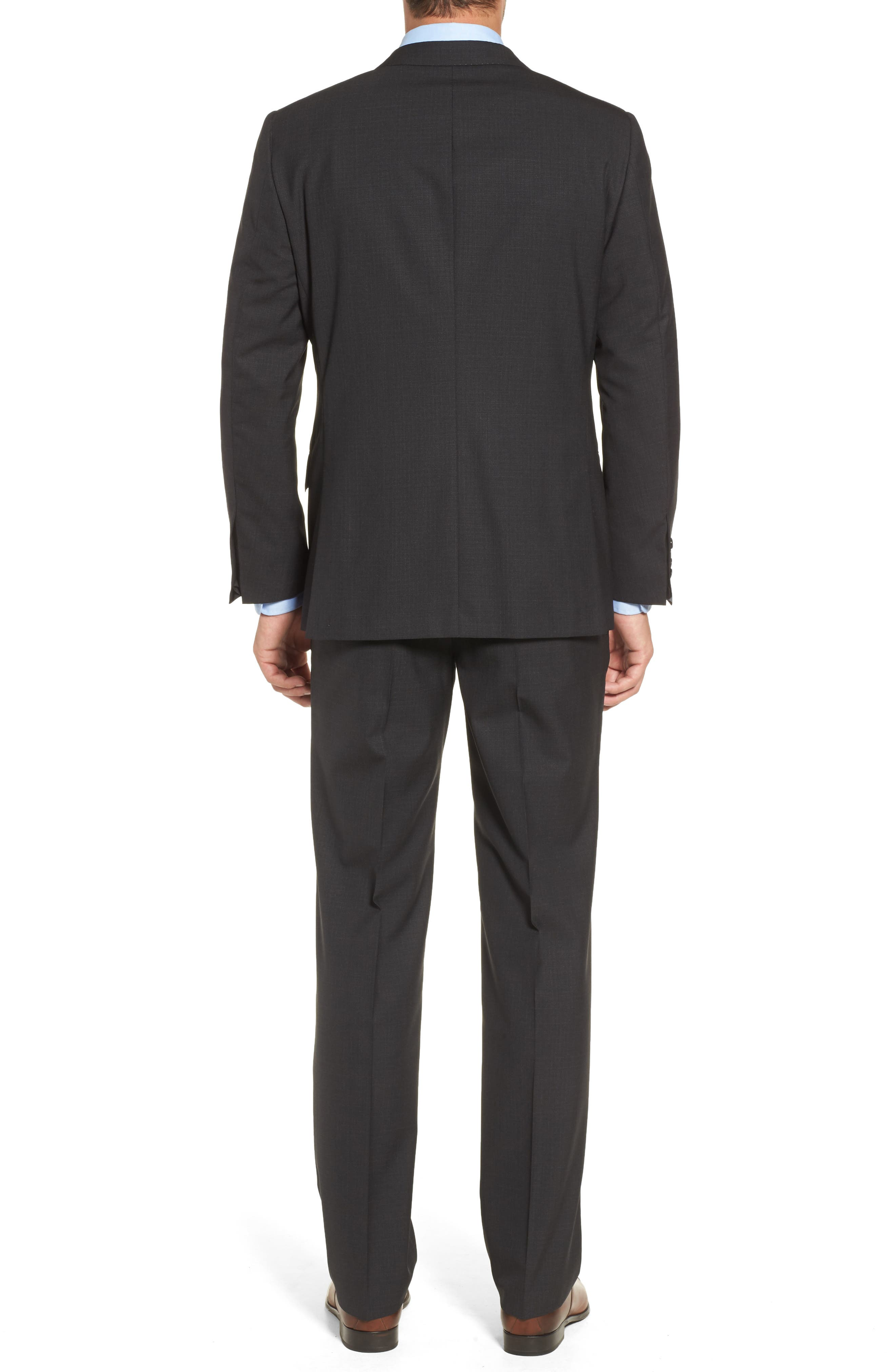 Classic B Fit Check Wool Suit,                             Alternate thumbnail 2, color,                             020