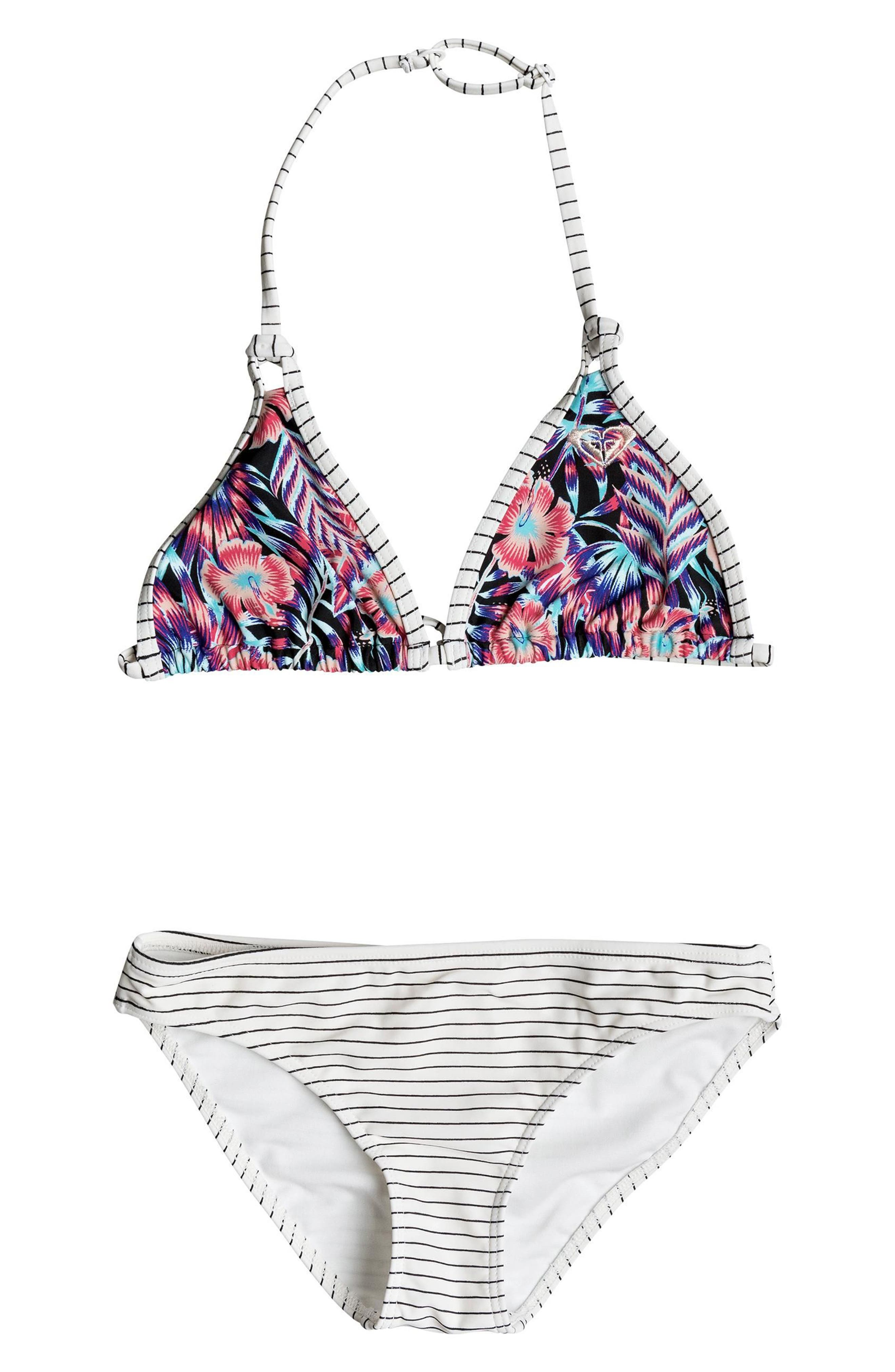 Surfing Miami Tiki Two-Piece Swimsuit,                         Main,                         color, 020