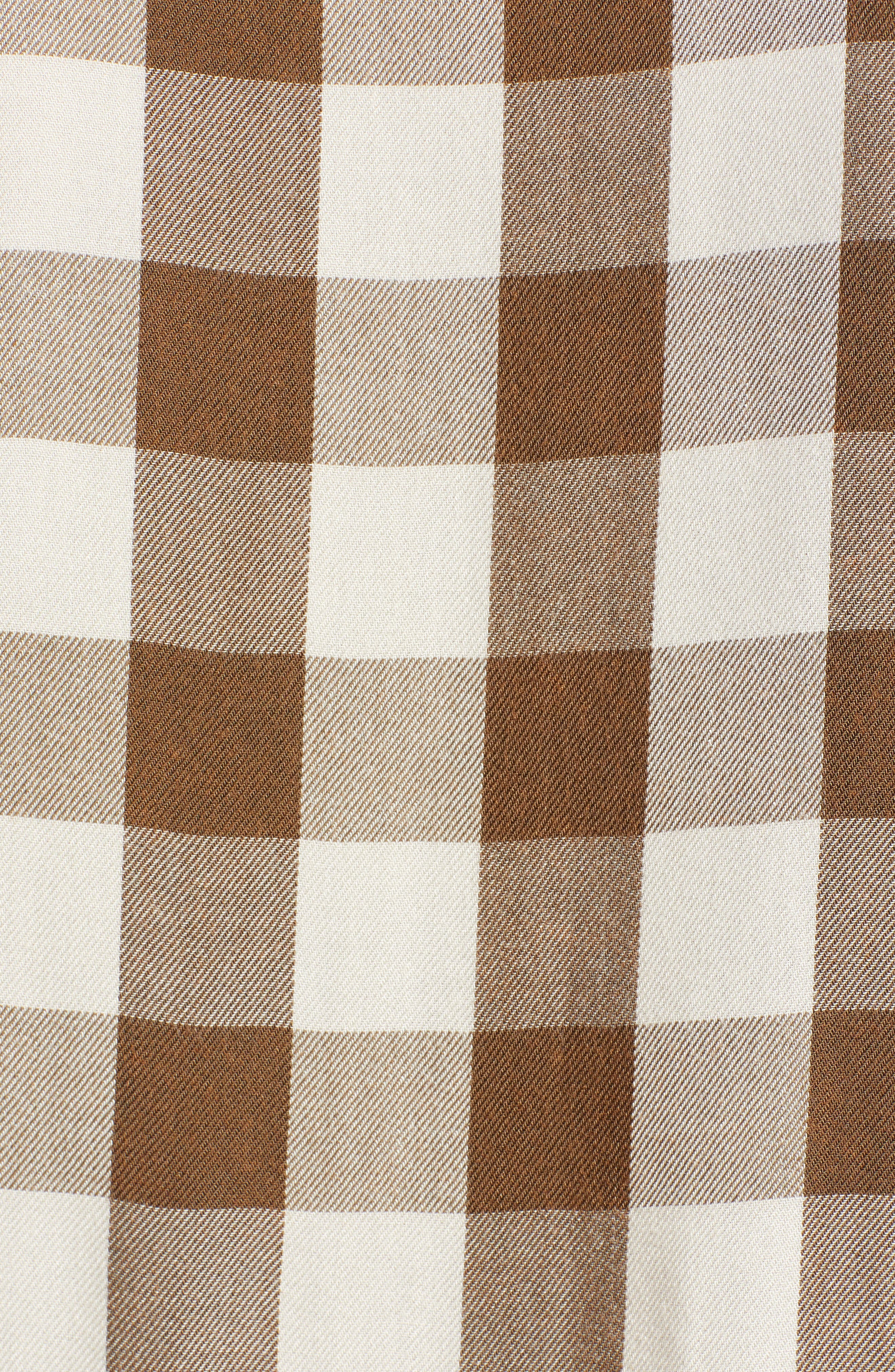 Peplum Plaid Shirt,                             Alternate thumbnail 5, color,                             ASH GREEN