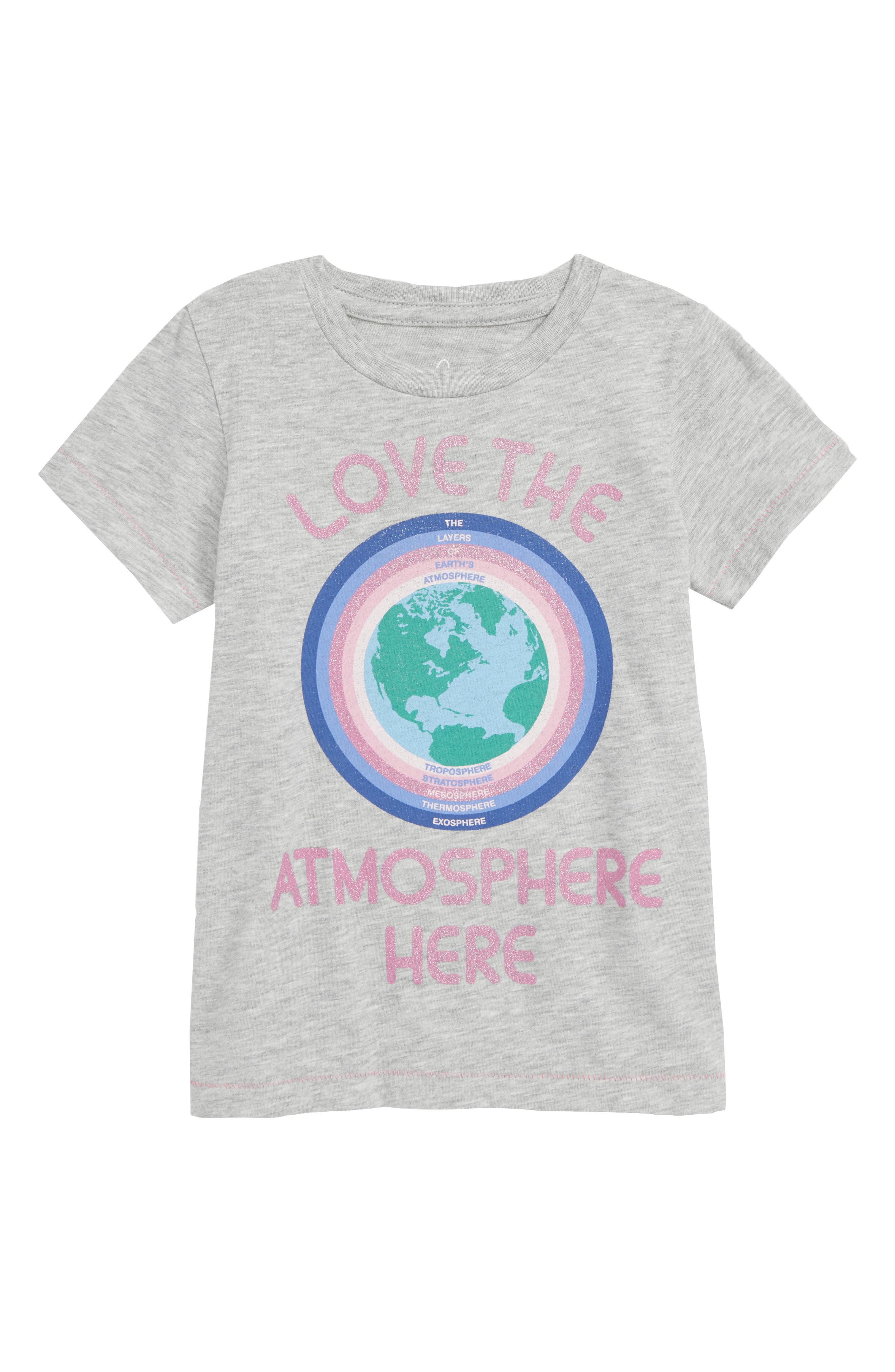 Love the Atmosphere Tee,                         Main,                         color, HEATHER GREY