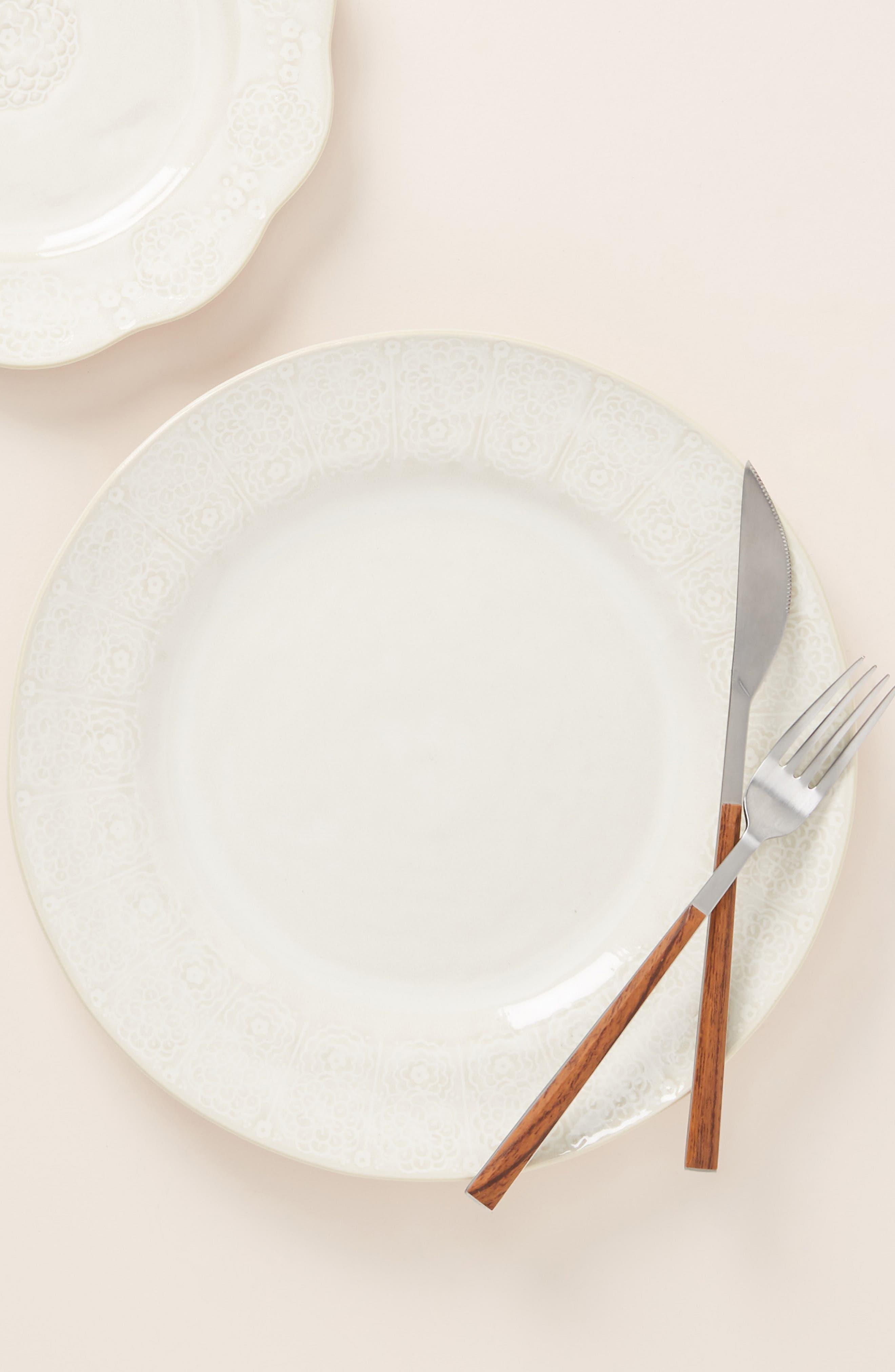ANTHROPOLOGIE,                             Veru Dinner Plate,                             Alternate thumbnail 2, color,                             WHITE