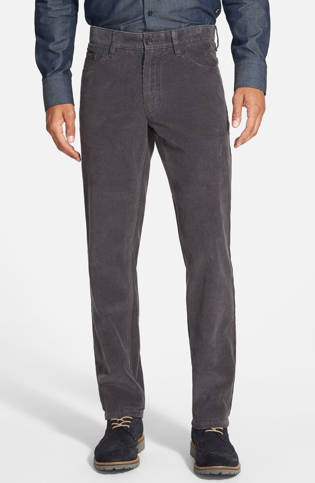 Straight Leg Corduroy Pants, Main, color, 021