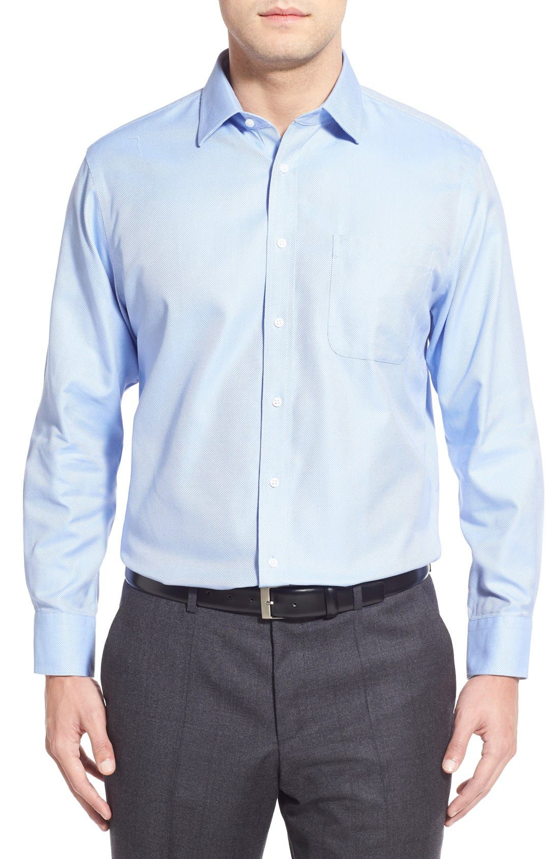 Smartcare<sup>™</sup> Traditional Fit Solid Dress Shirt,                             Alternate thumbnail 8, color,