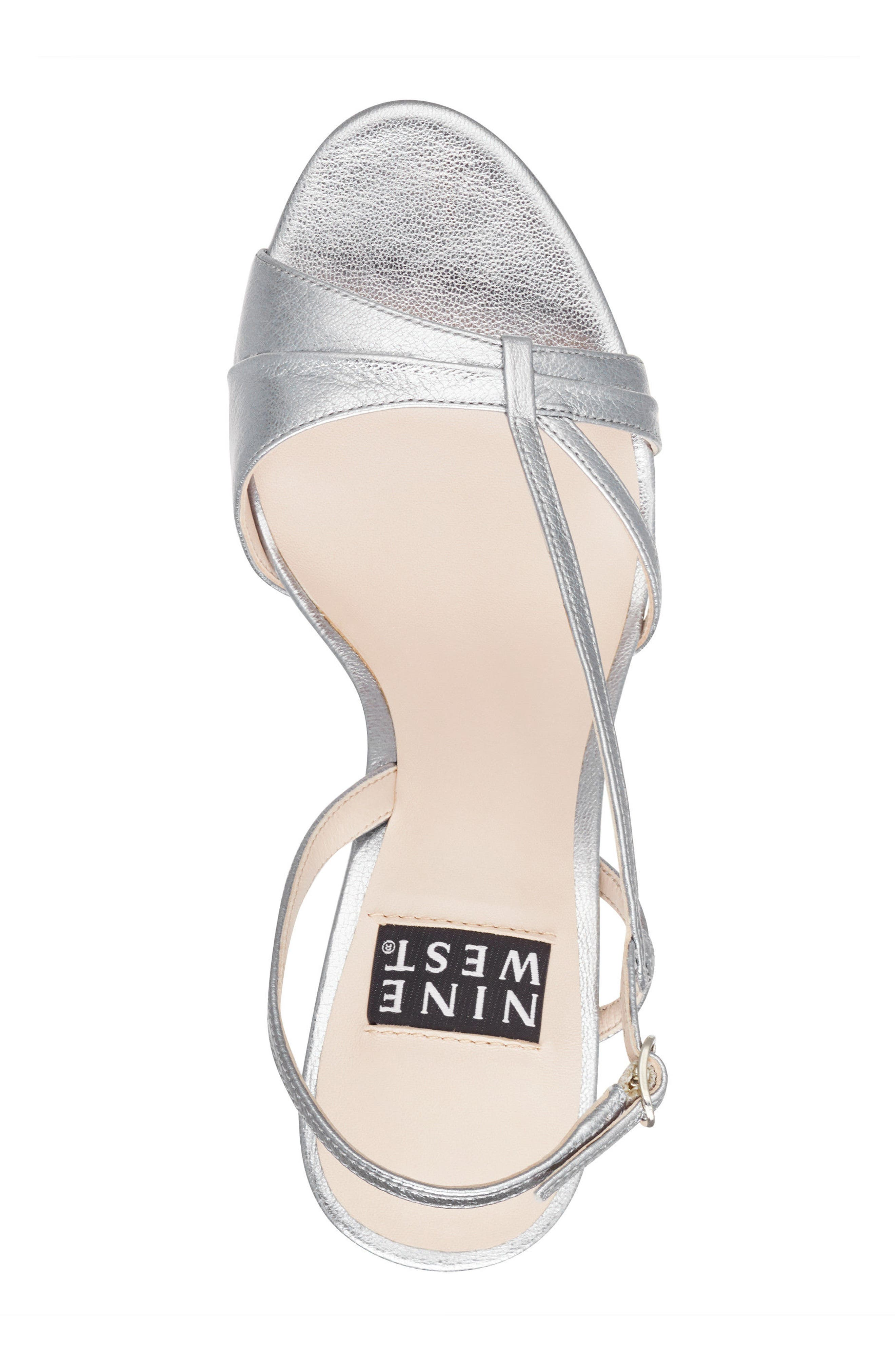 Accolia - 40th Anniversary Capsule Collection Sandal,                             Alternate thumbnail 5, color,                             SILVER LEATHER