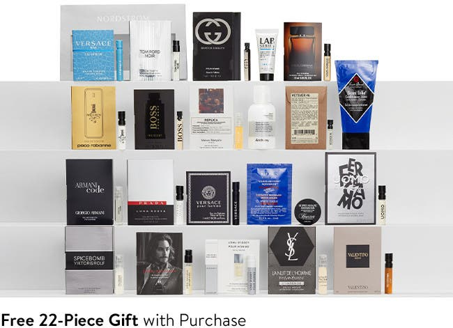 Free 22-piece gift with purchase.