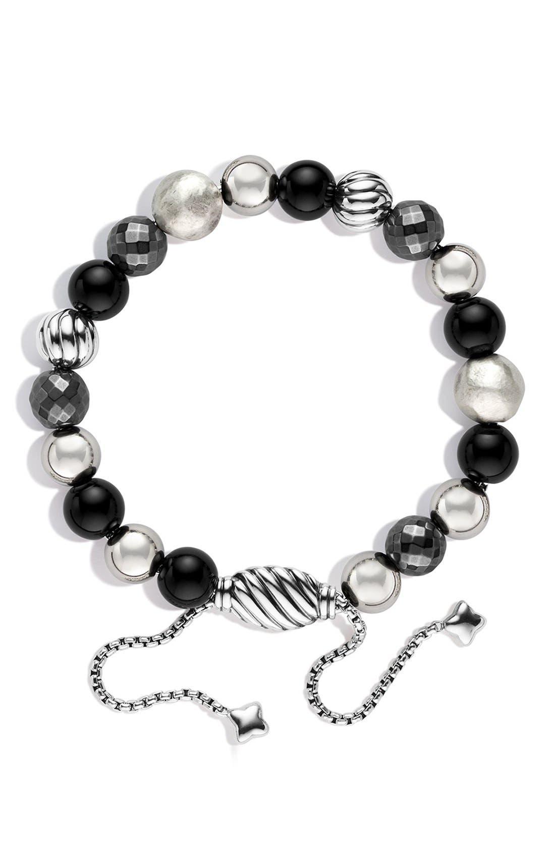 'DY Elements' Bead Bracelet,                             Alternate thumbnail 2, color,                             BLACK ONYX