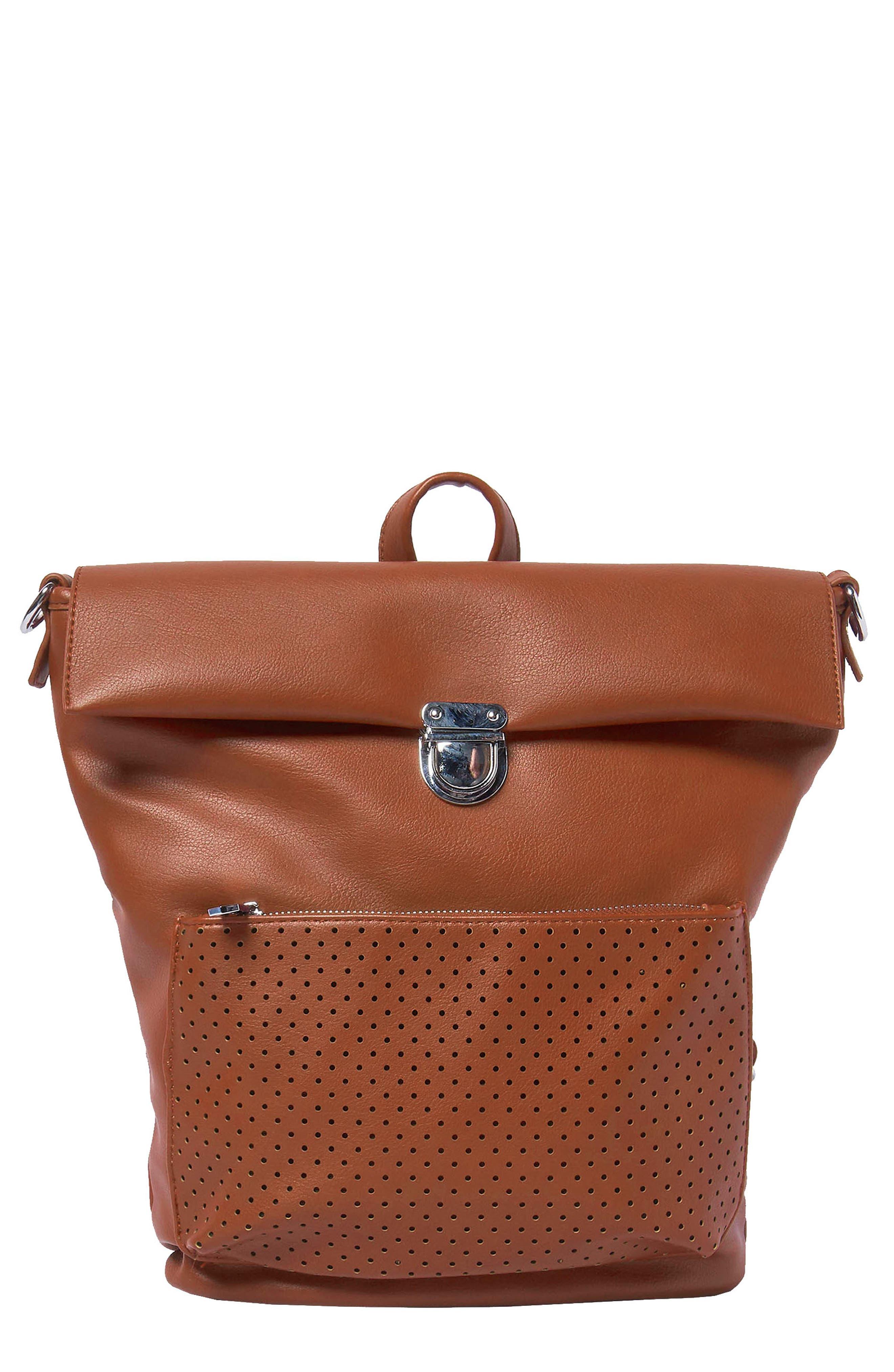 Solo Origin Vegan Leather Convertible Backpack - Brown in Tan