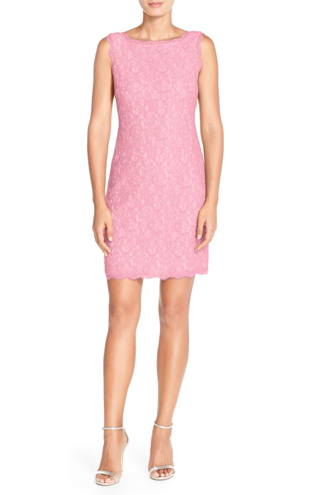 Boatneck Lace Sheath Dress,                             Main thumbnail 28, color,
