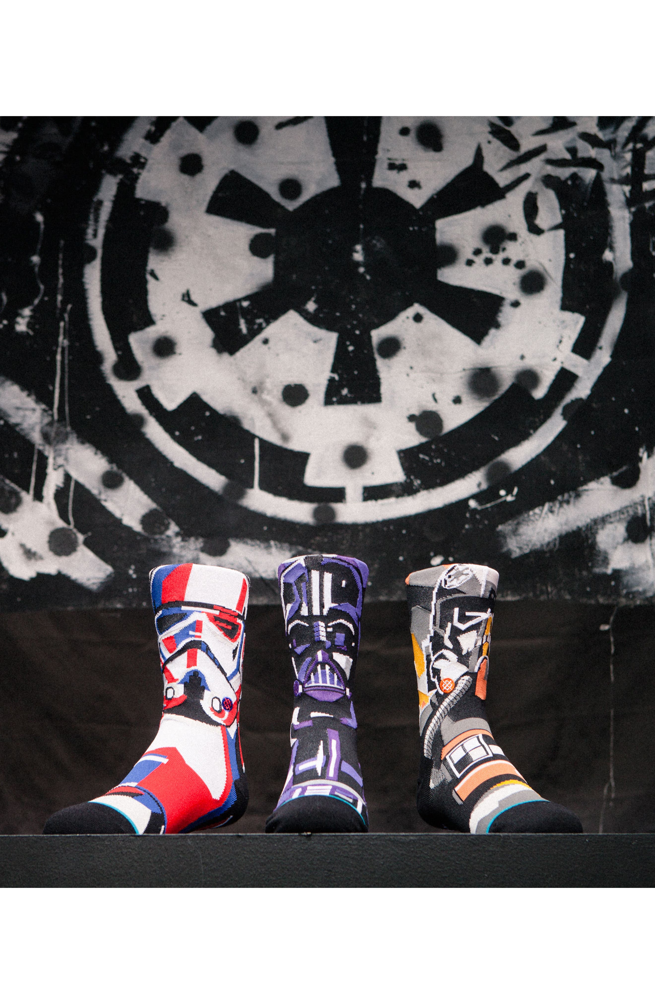 x Star Wars<sup>™</sup> Pilot Mosaic Socks,                             Alternate thumbnail 4, color,