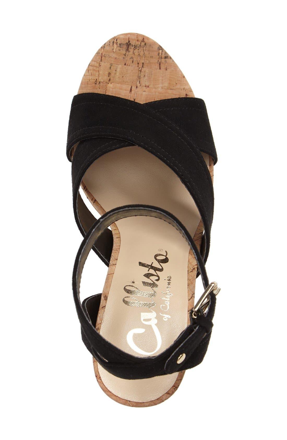 Windye Platform Ankle Strap Sandal,                             Alternate thumbnail 6, color,                             003