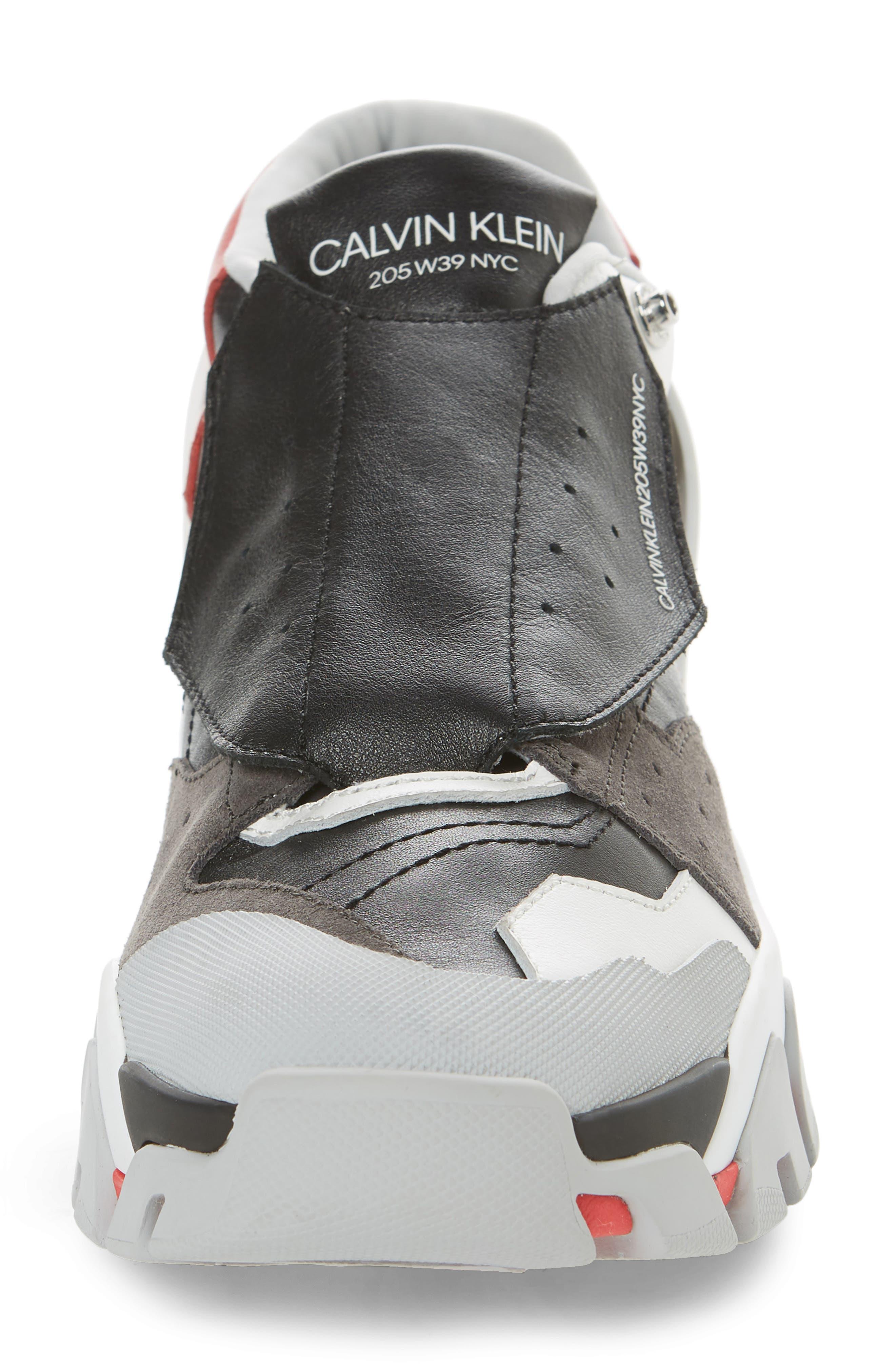 Cander 7 Sneaker,                             Alternate thumbnail 4, color,                             BLACK/ WHITE/ RED/ GREY