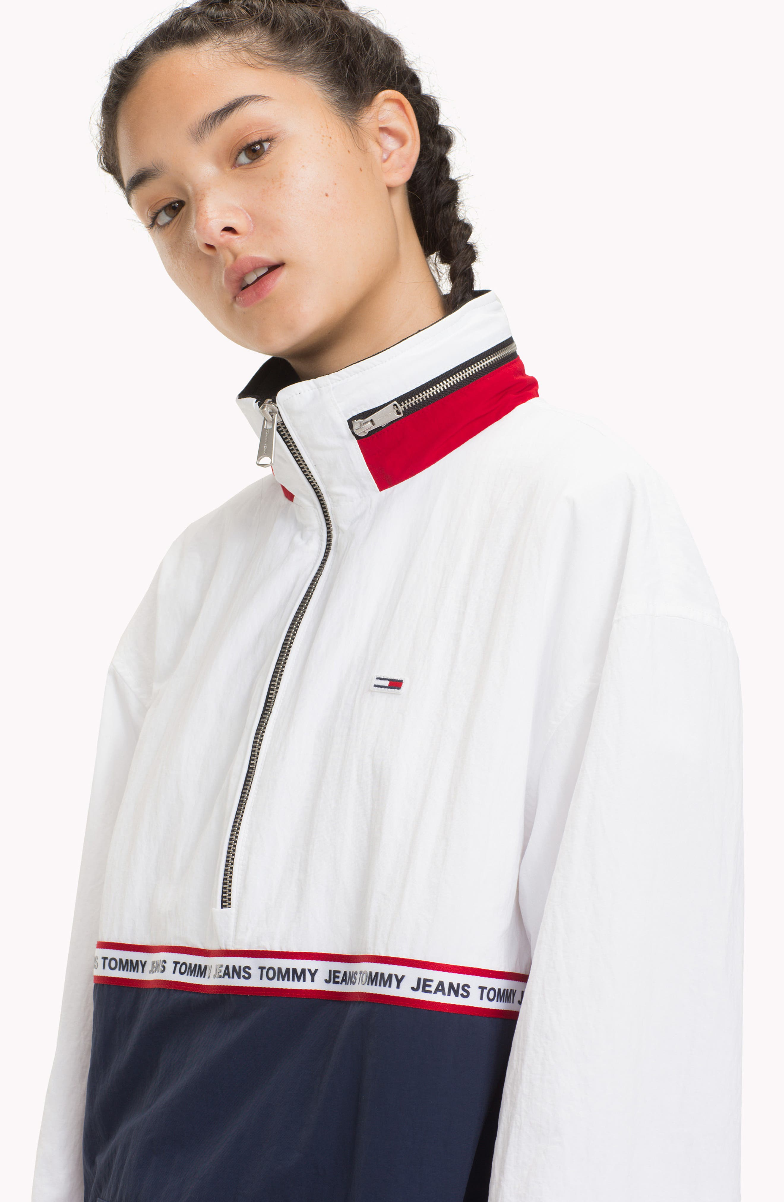 TOMMY JEANS,                             TJW Logo Tape Pullover,                             Alternate thumbnail 9, color,                             400