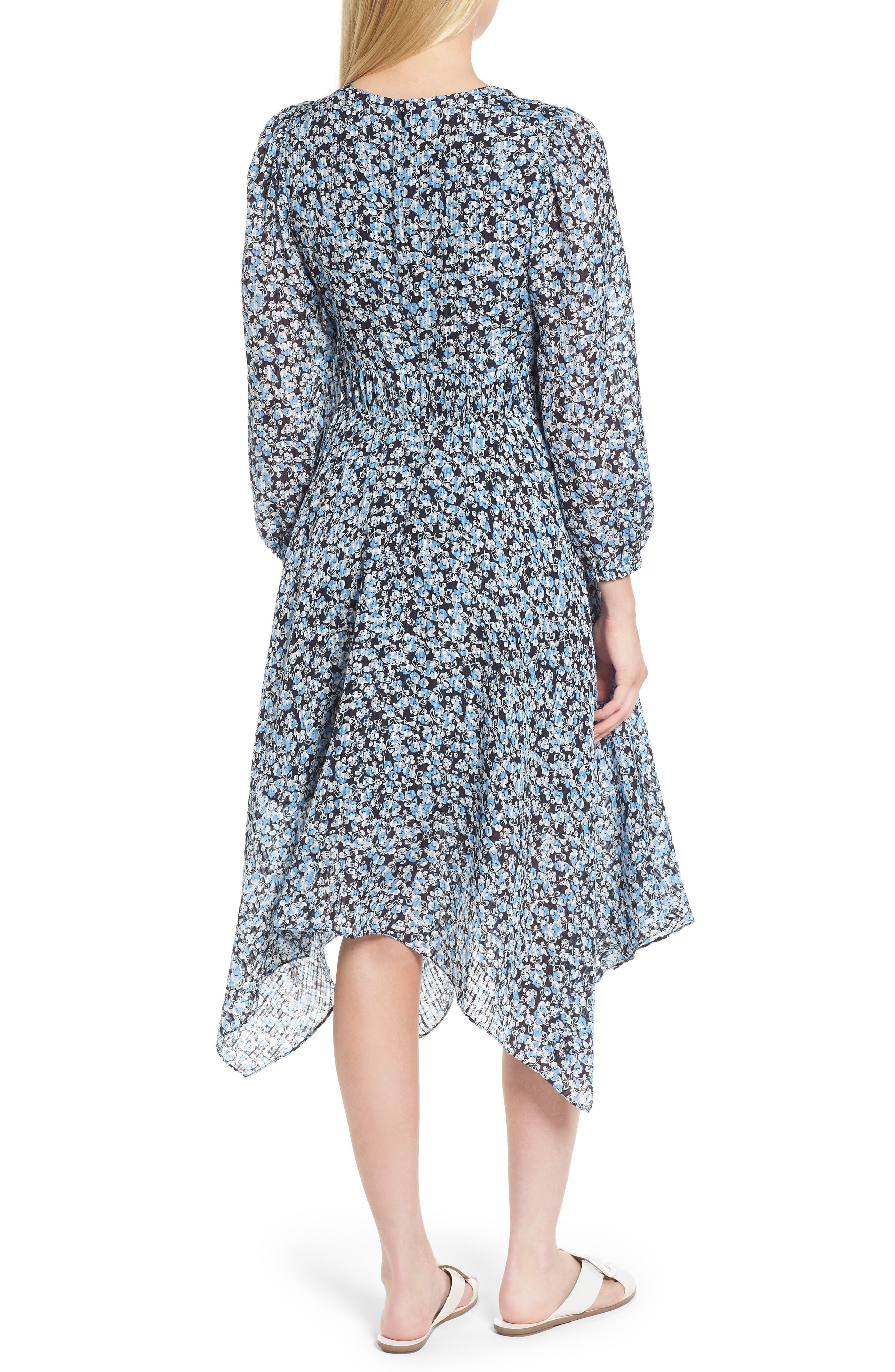 Handkerchief Hem Silk Dress,                             Alternate thumbnail 2, color,                             401