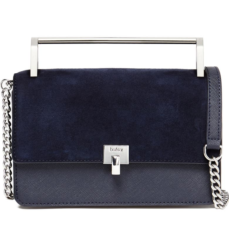 Botkier SMALL LENNOX LEATHER CROSSBODY BAG - BLUE