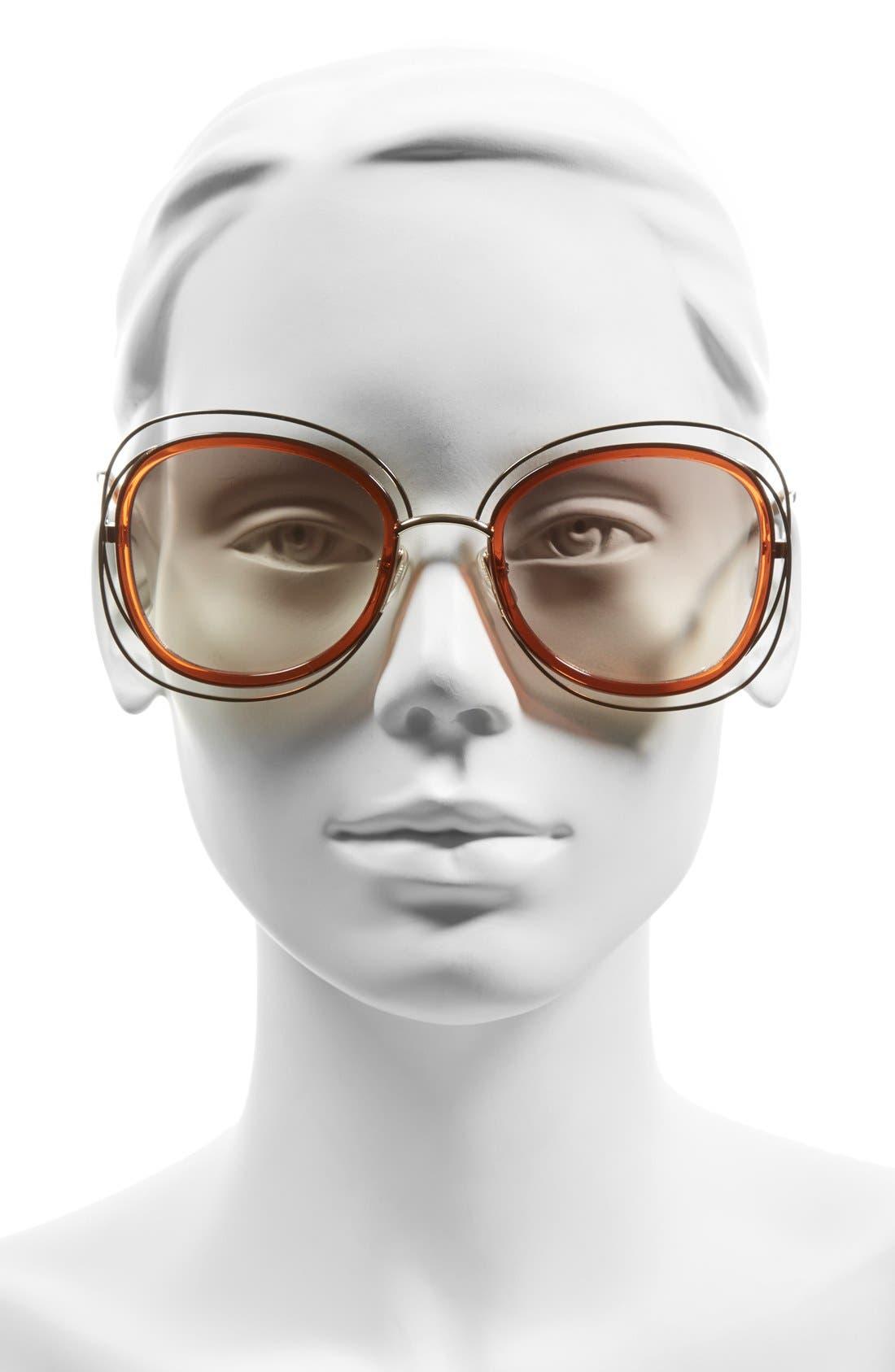 'Carlina' 56mm Gradient Sunglasses,                             Alternate thumbnail 7, color,