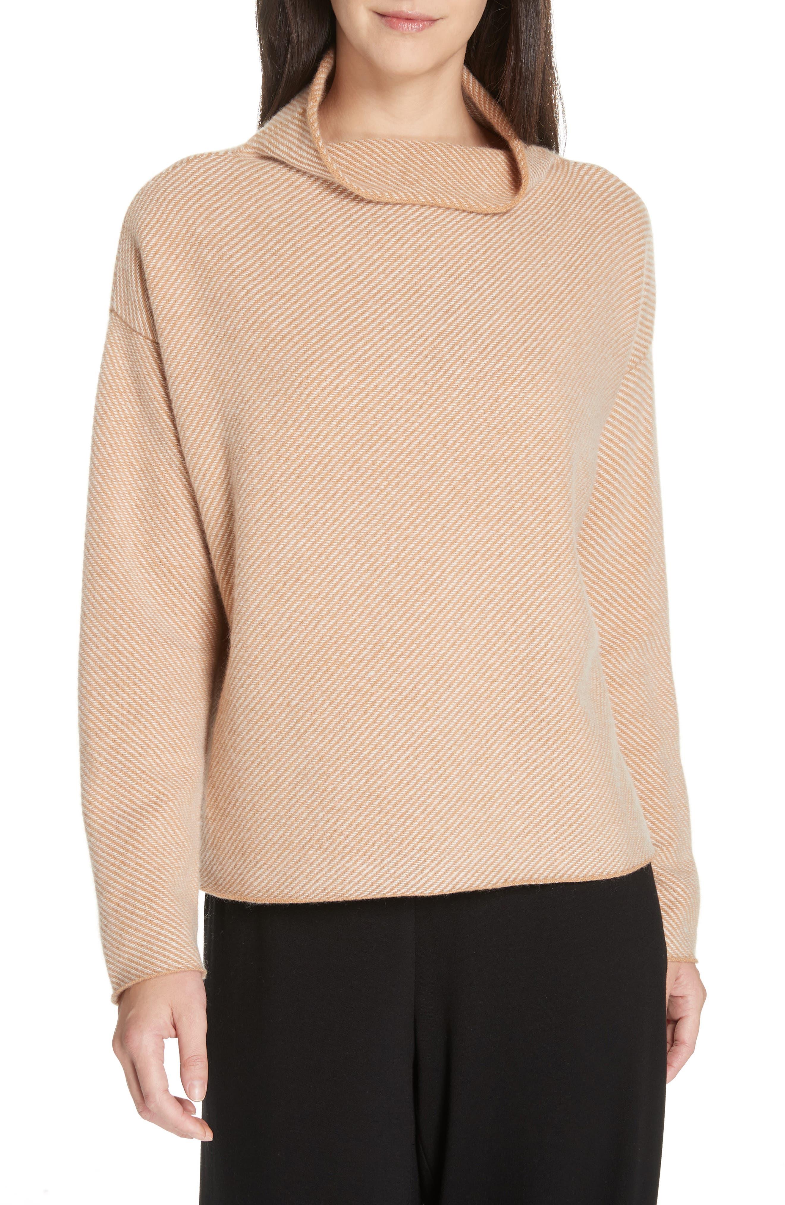 Eileen Fisher Cashmere & Wool Sweater, Brown