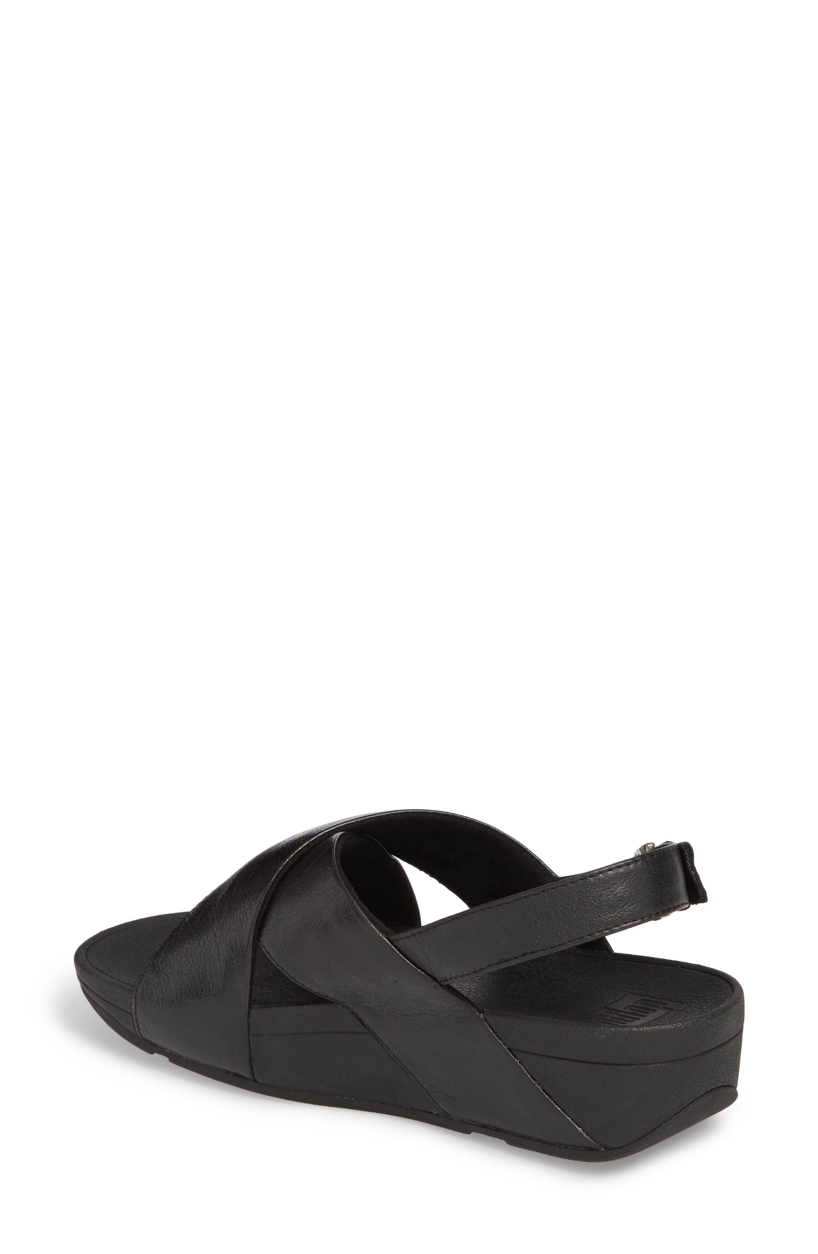 Lulu Crisscross Sandal,                             Alternate thumbnail 2, color,                             BLACK