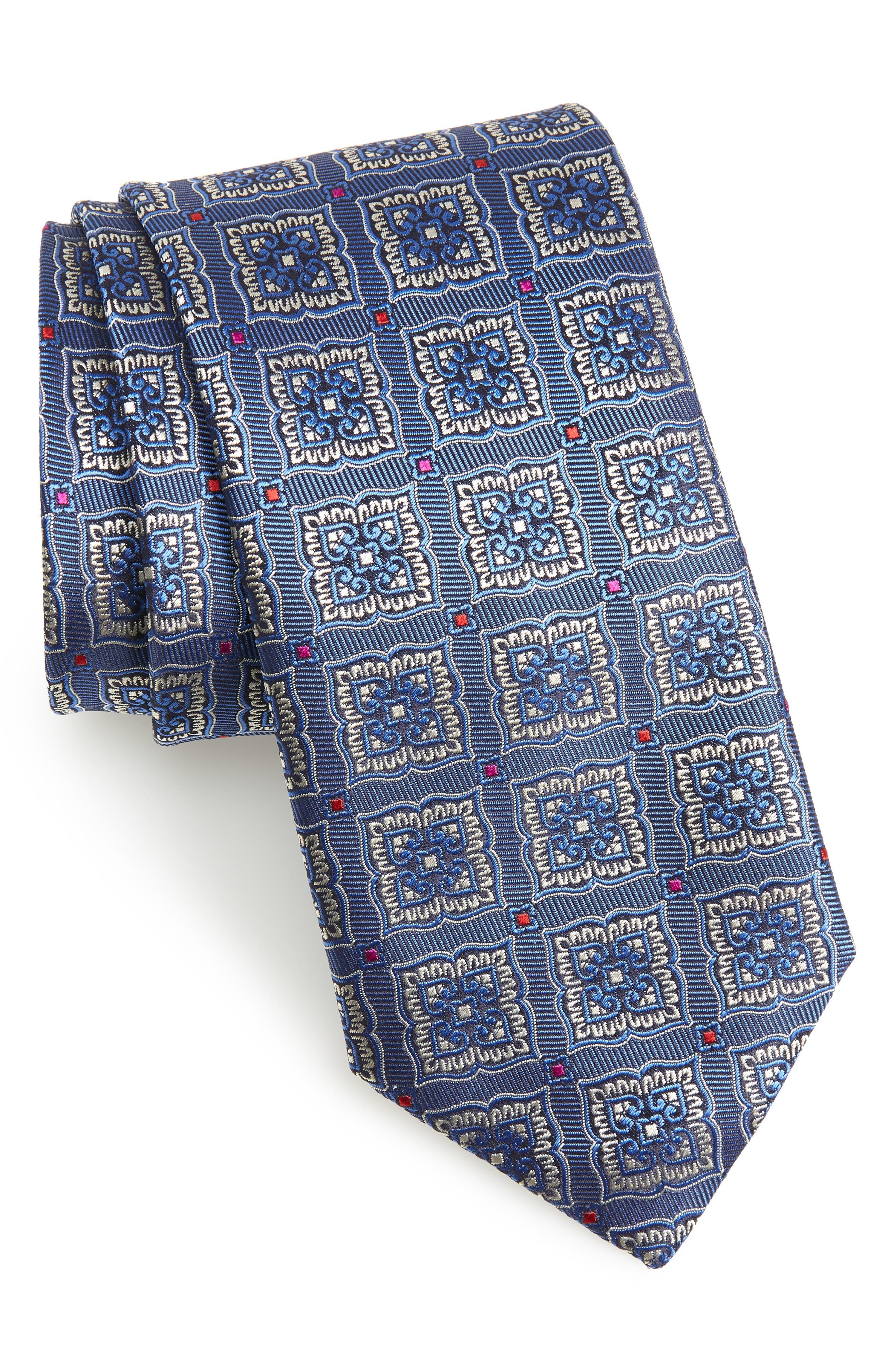 Medallion Silk Tie,                         Main,                         color, 400