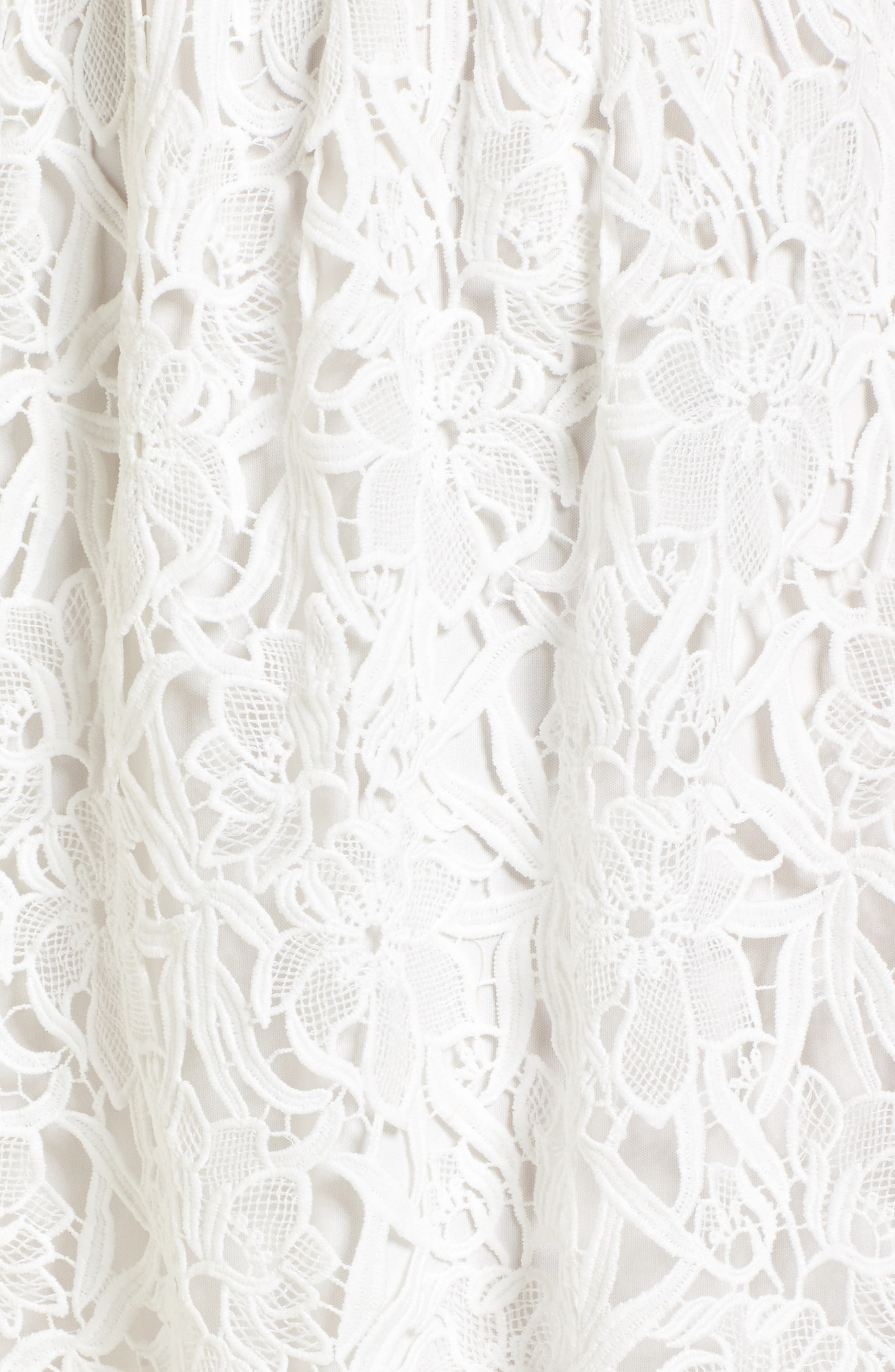 Lace Off the Shoulder Midi Dress,                             Alternate thumbnail 6, color,                             100