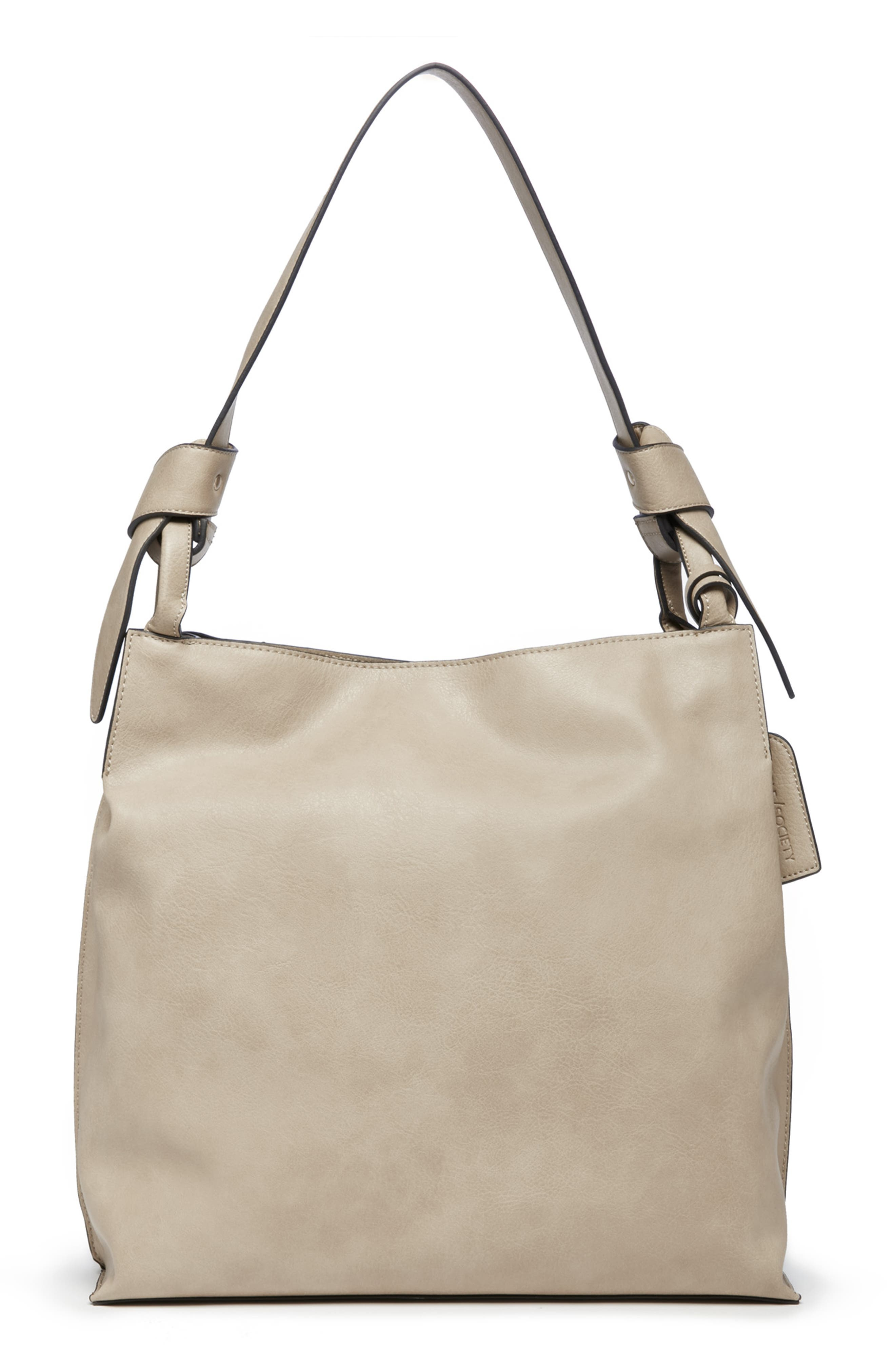 Josah Faux Leather Shoulder Bag,                             Alternate thumbnail 3, color,                             SAFARI