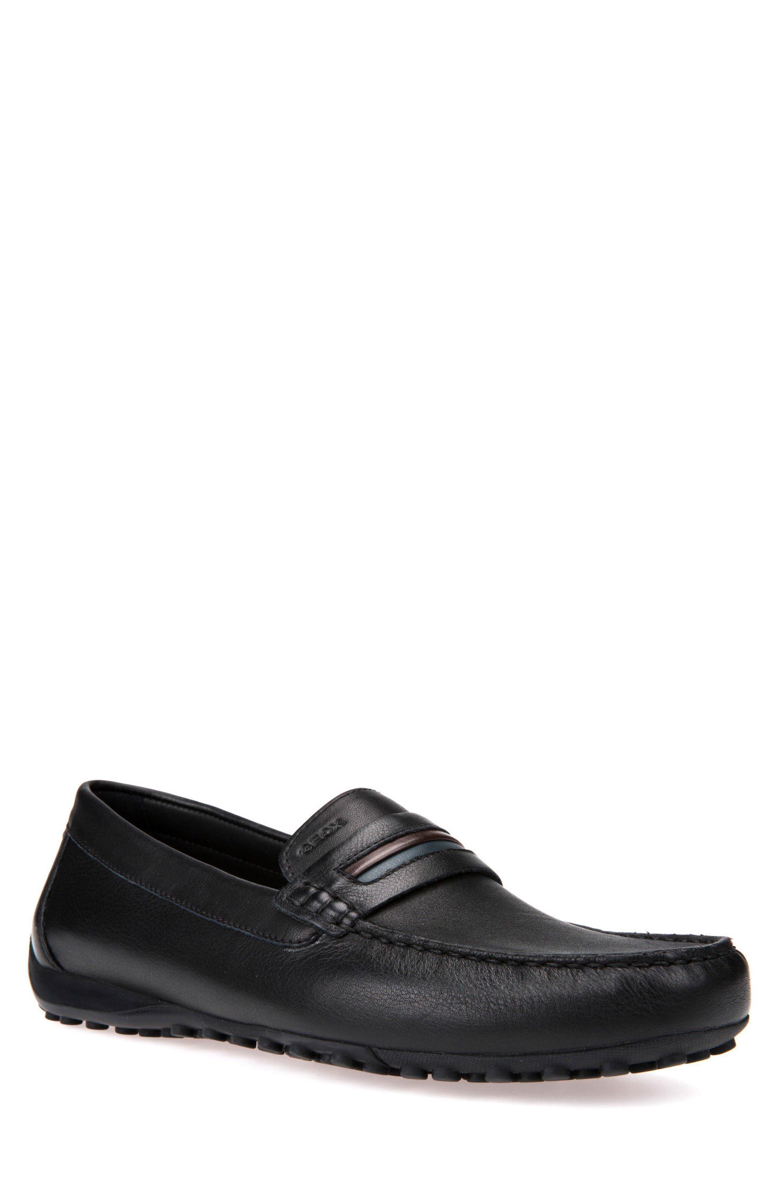 men's geox snake driving shoe, size 12us / 45eu - black