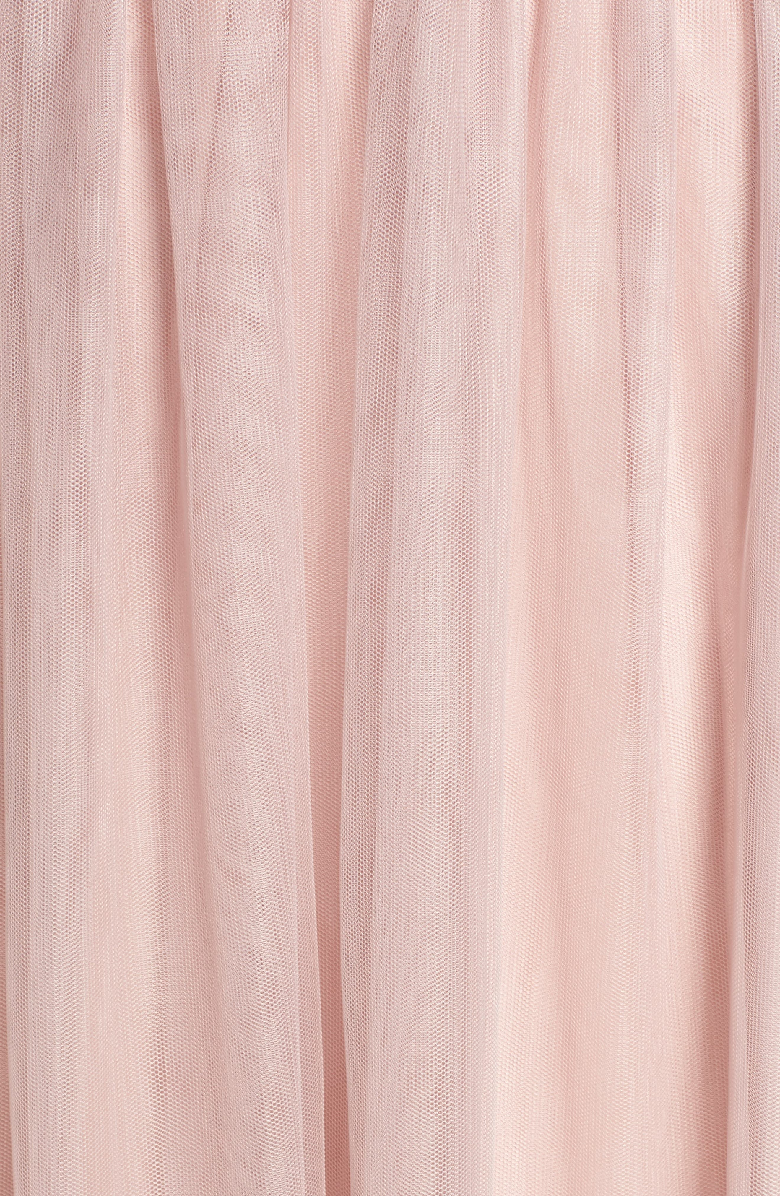 English Net Gown,                             Alternate thumbnail 5, color,                             DUSTY ROSE