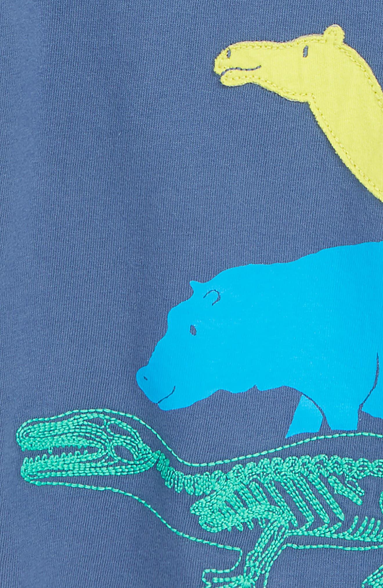 Textured Mammals Layered T-Shirt,                             Alternate thumbnail 2, color,                             LAGOON BLUE