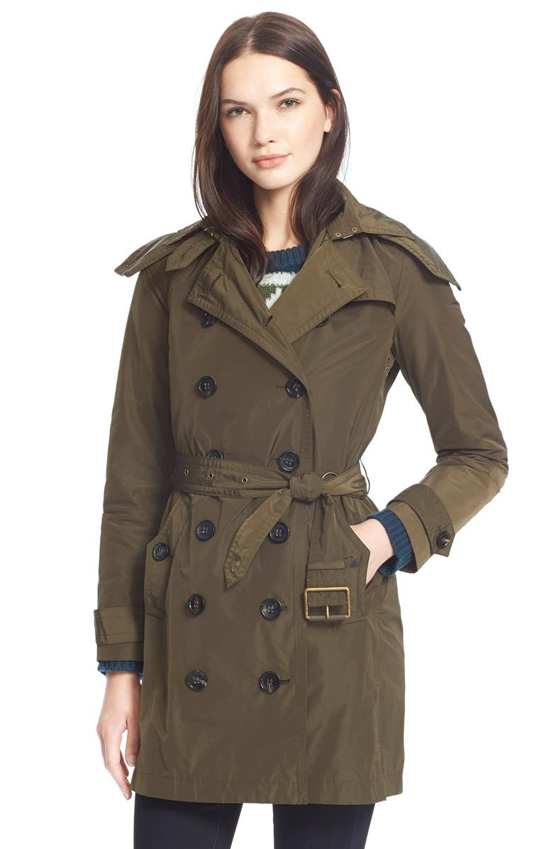Coat Brit Burberry Trench Detachable Hood 'balmoral' With Taffeta xIddfwg1q