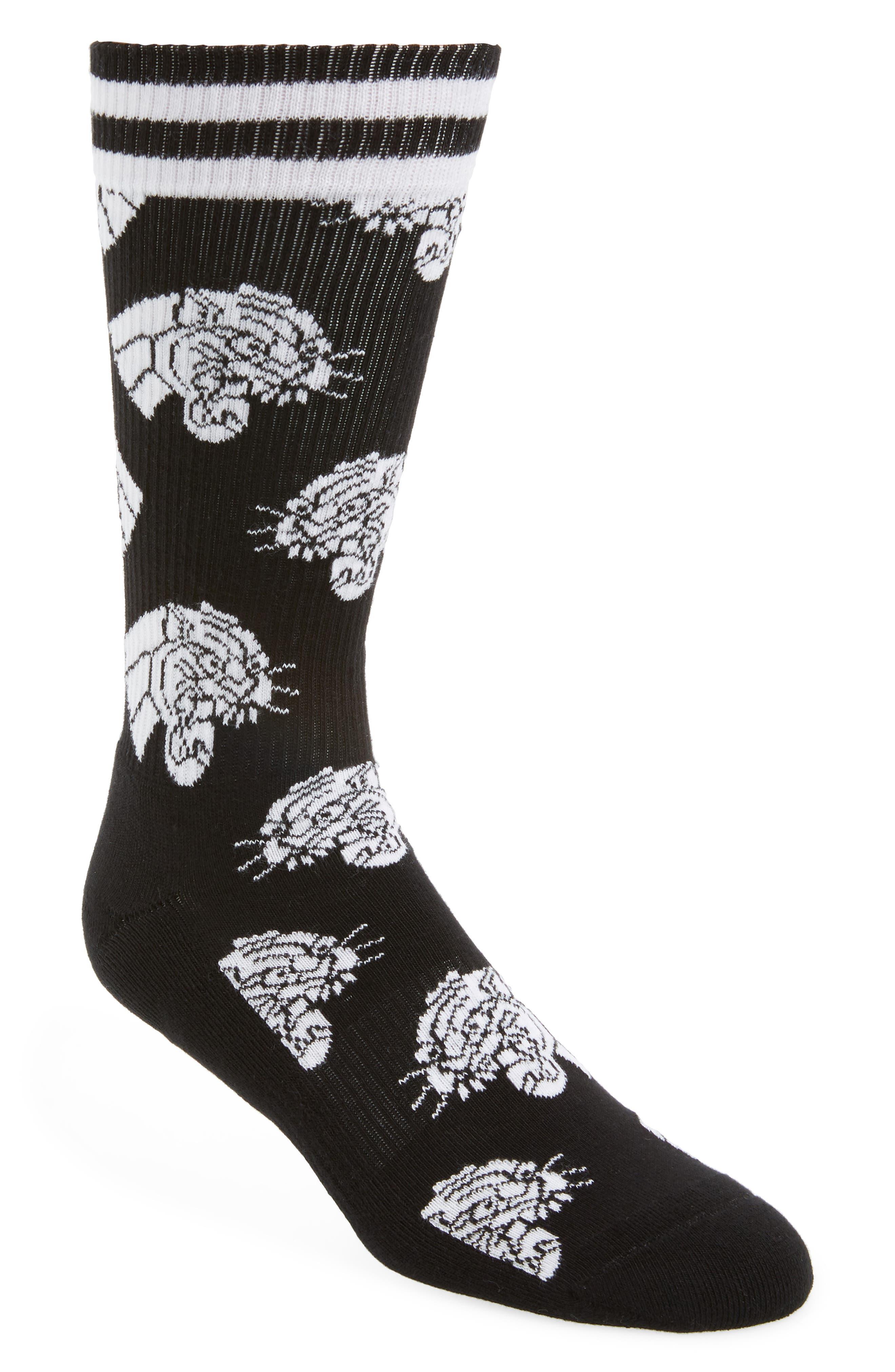 Athletic Mountain Lion Socks,                             Main thumbnail 1, color,                             BLACK
