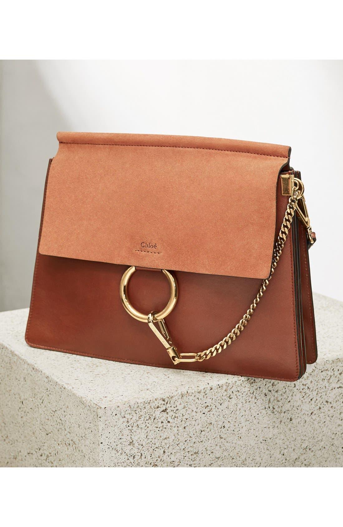 Faye Goatskin Leather Shoulder Bag,                             Alternate thumbnail 8, color,