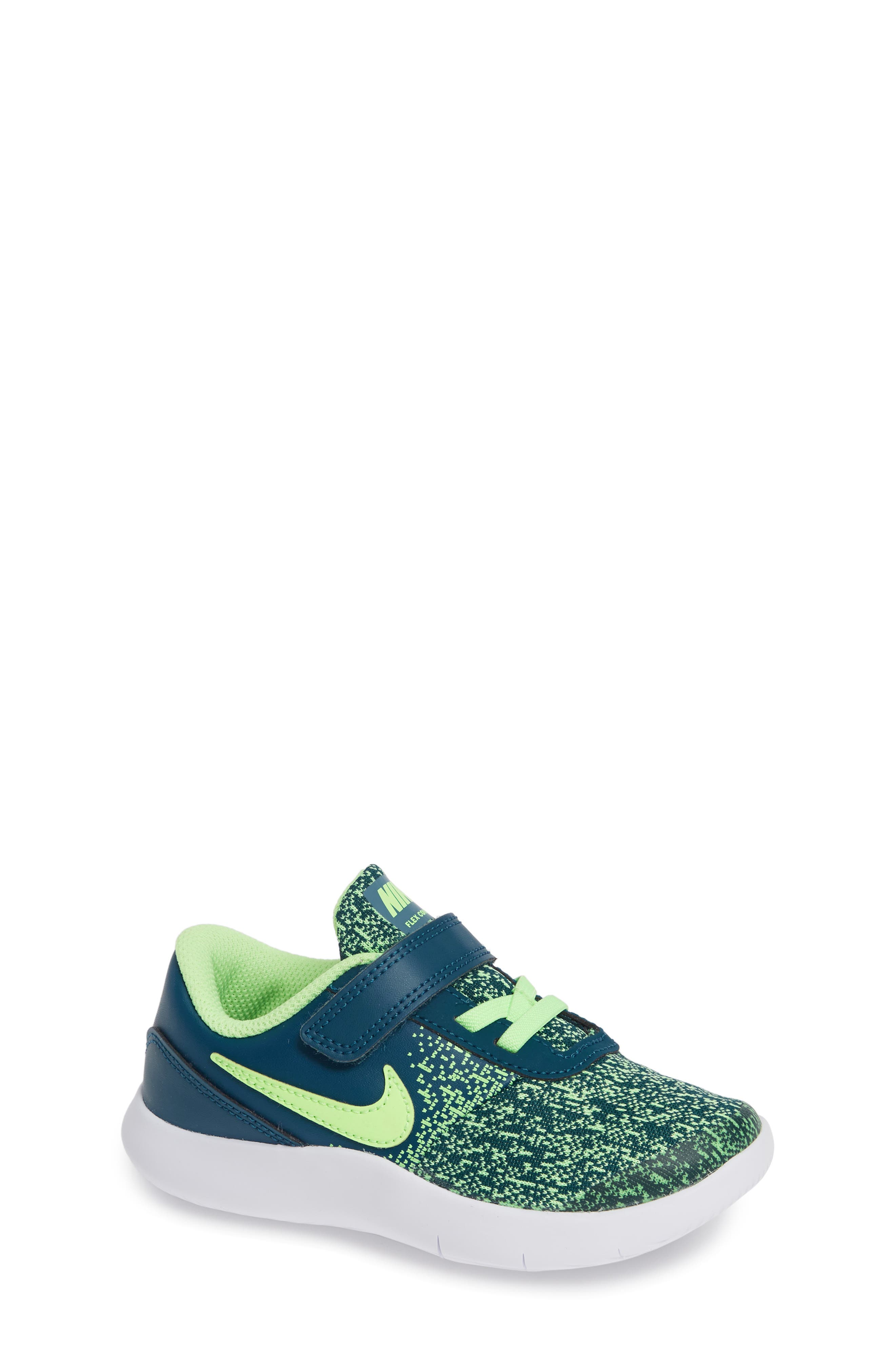 NIKE Flex Contact Running Shoe, Main, color, BLUE FORCE/ LIME BLAST