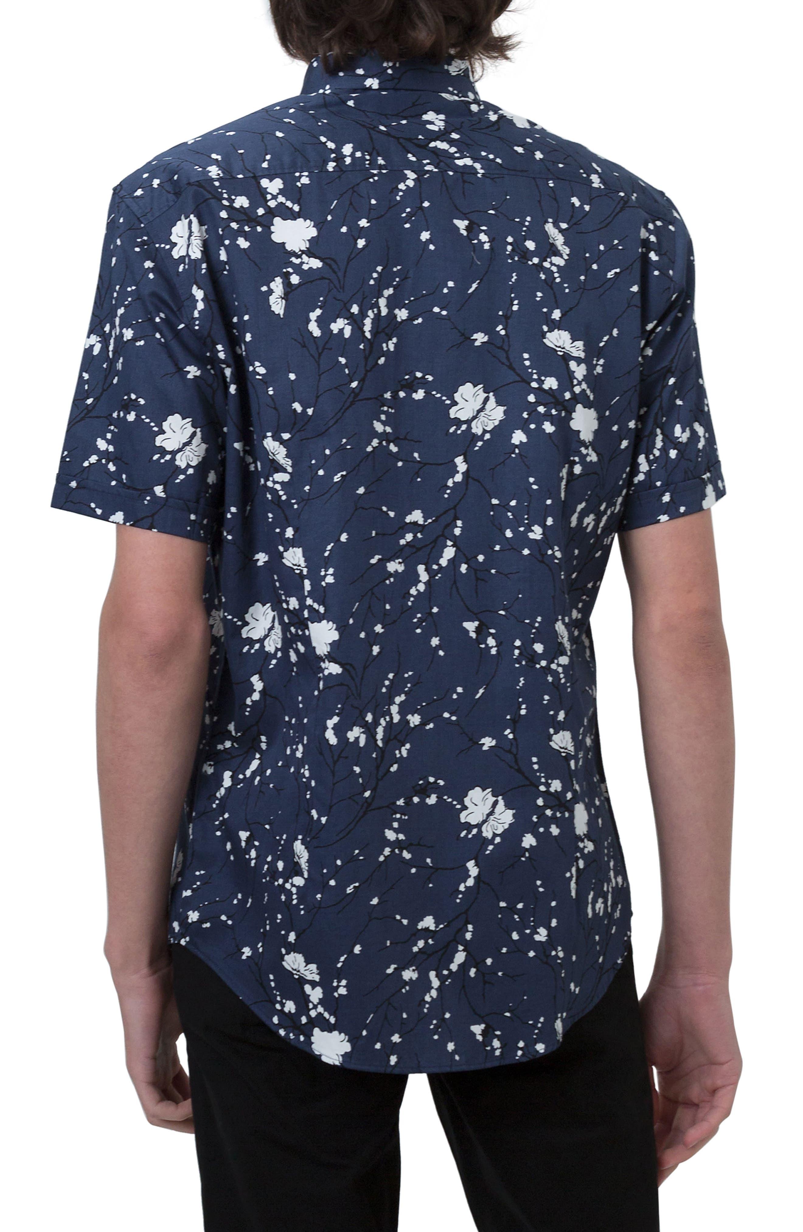 Print Woven Shirt,                             Alternate thumbnail 2, color,                             410