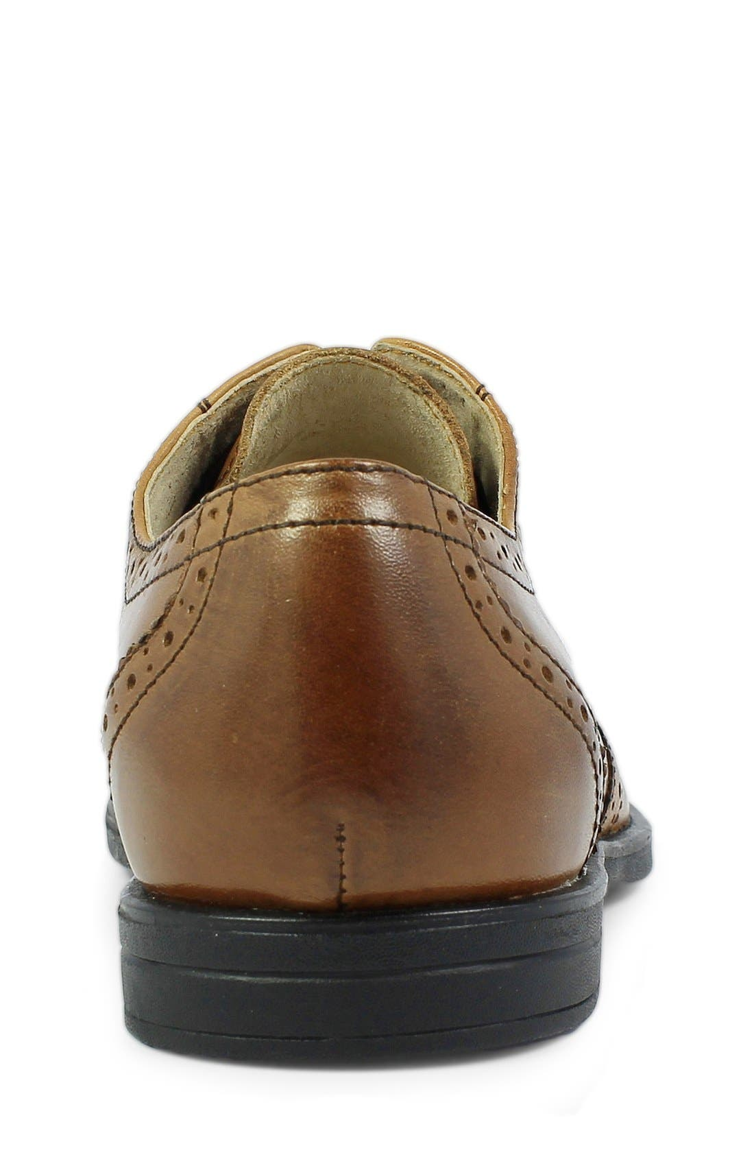 'Reveal' Wingtip Oxford,                             Alternate thumbnail 6, color,                             COGNAC LEATHER