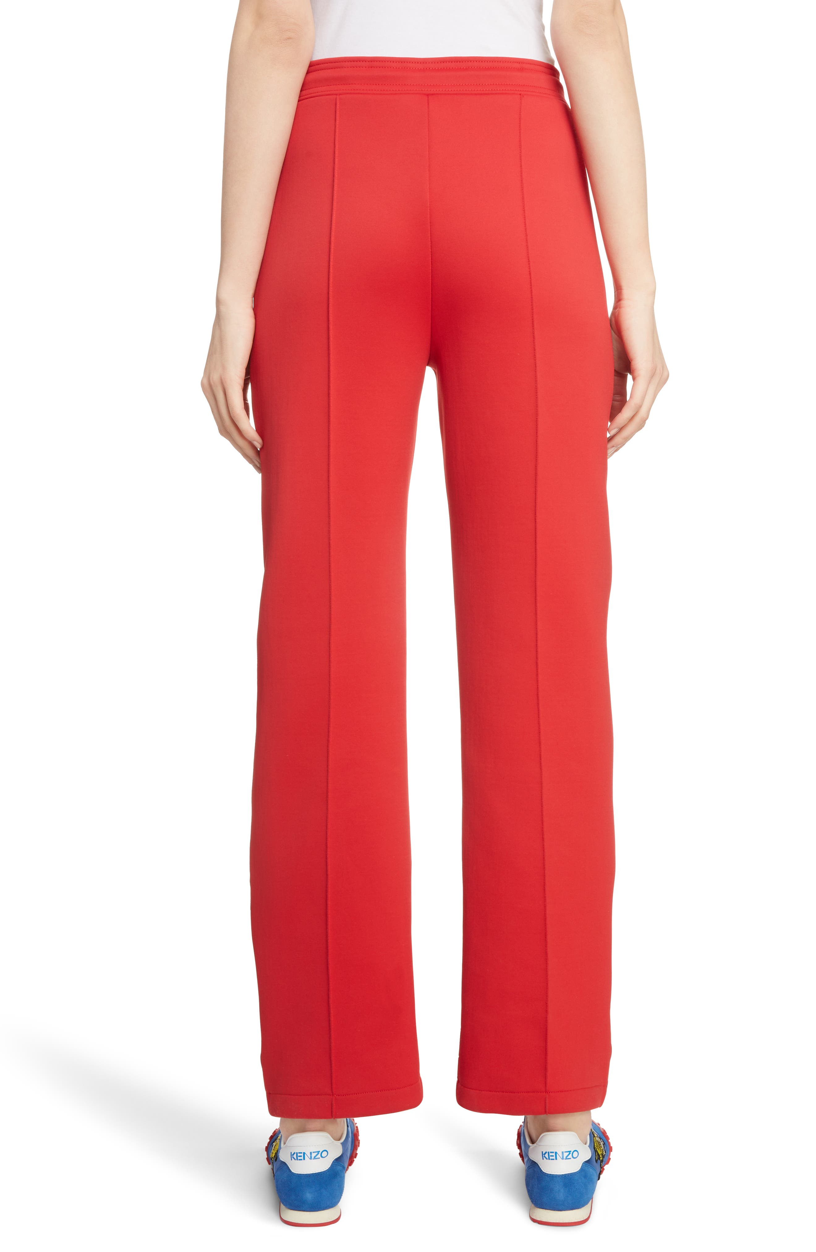 Sport Crop Track Pants,                             Alternate thumbnail 2, color,                             JERSEY RED