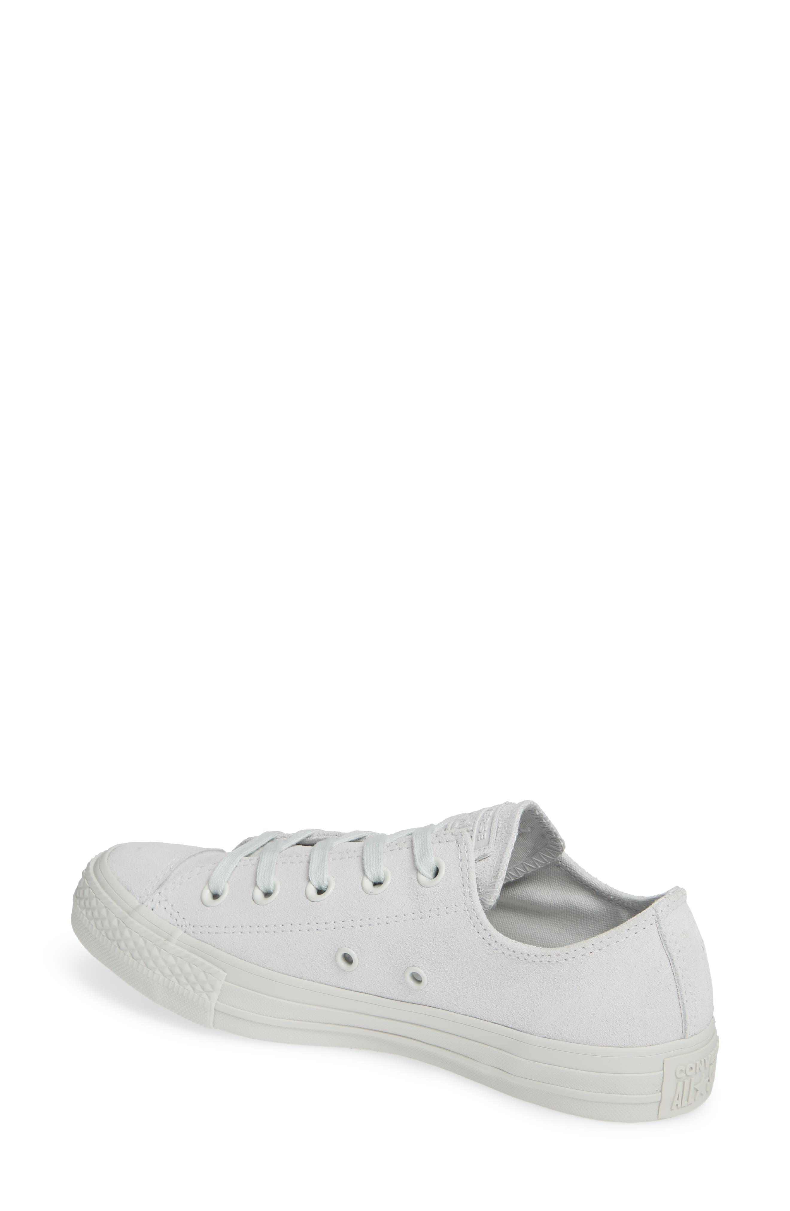 Chuck Taylor<sup>®</sup> All Star<sup>®</sup> Ox Sneaker,                             Alternate thumbnail 2, color,                             LIGHT SILVER SUEDE