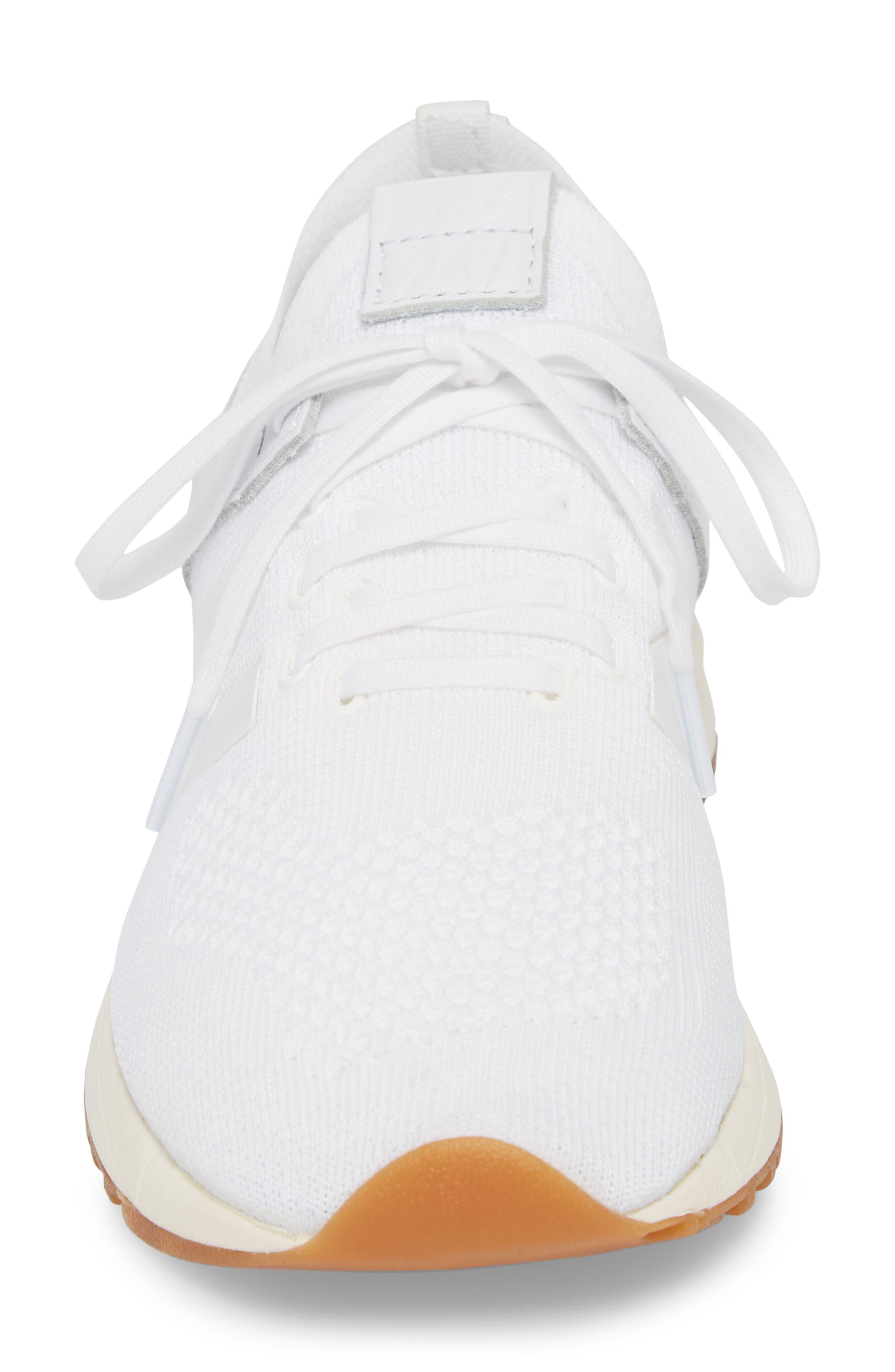 247 Decon Knit Sneaker,                             Alternate thumbnail 4, color,                             WHITE