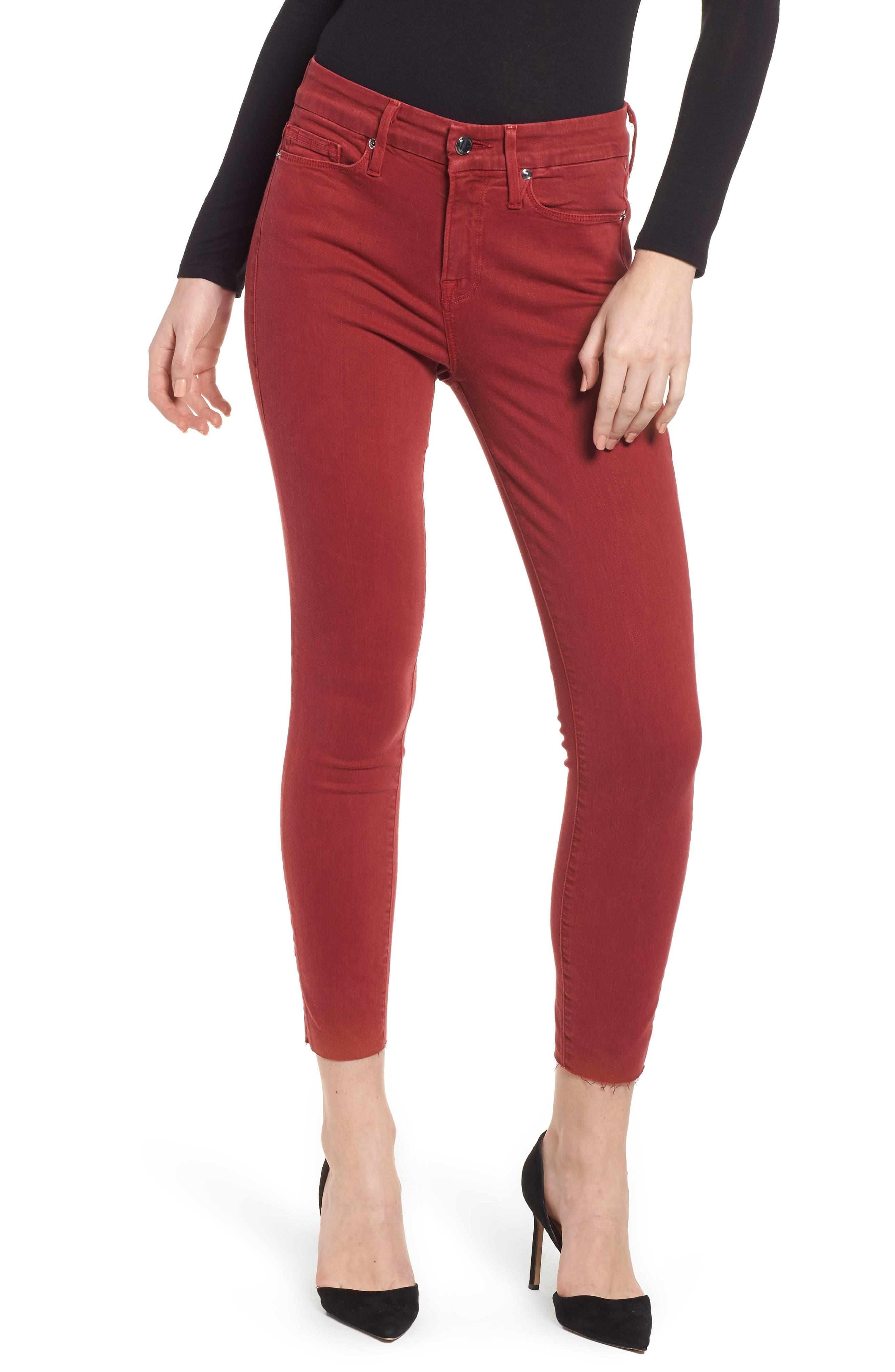 Good Legs Raw Edge Crop Skinny Jeans,                             Main thumbnail 1, color,                             601