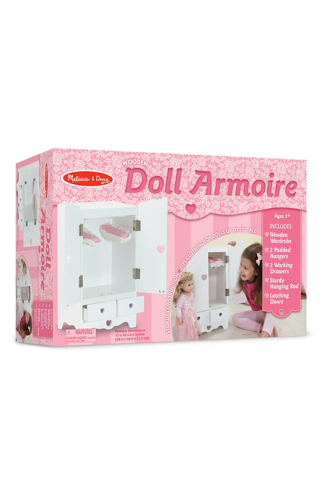 Wooden Doll Armoire,                             Alternate thumbnail 3, color,                             100