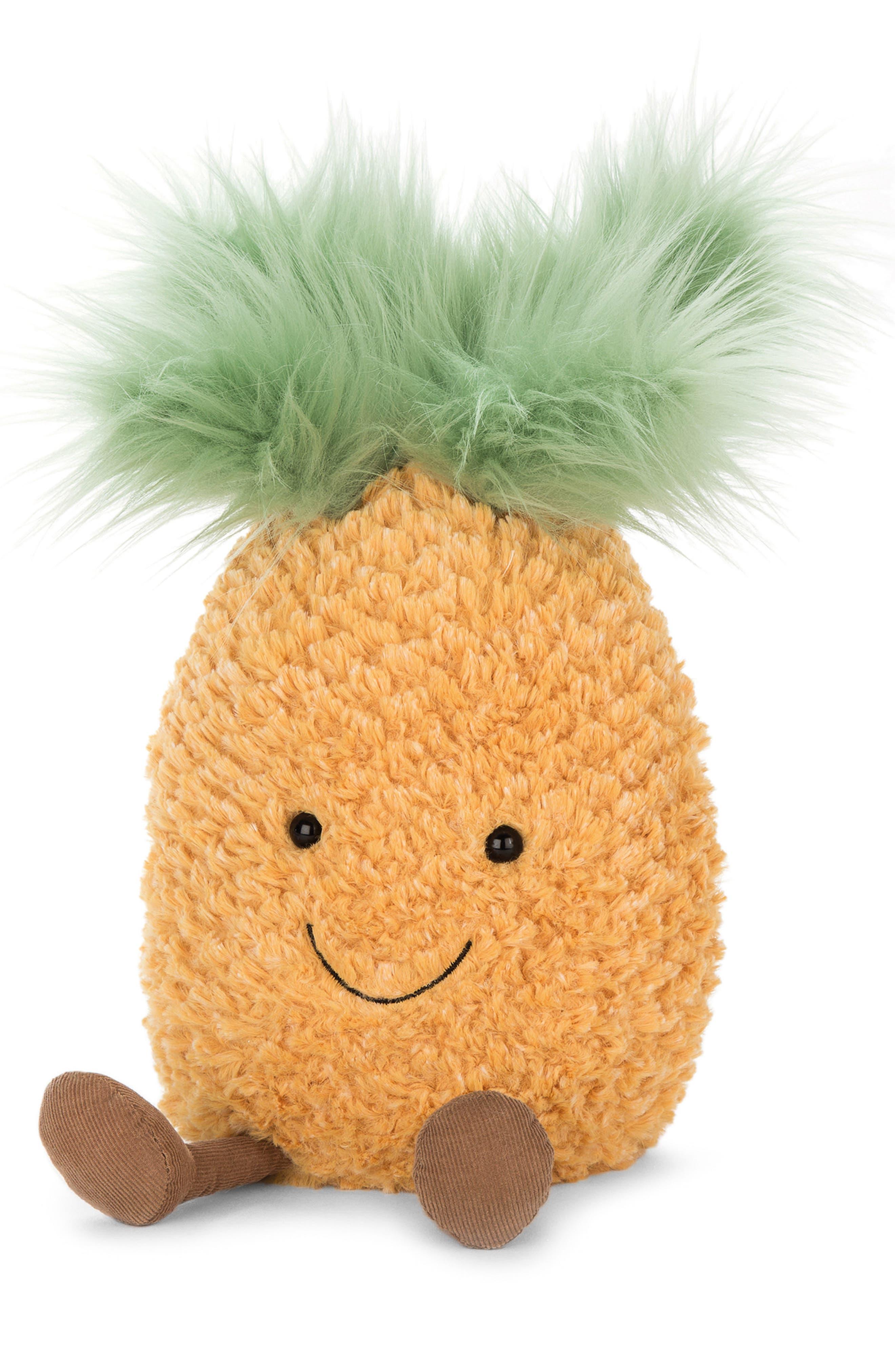 Amuseable Pineapple Plush Toy,                         Main,                         color, 700