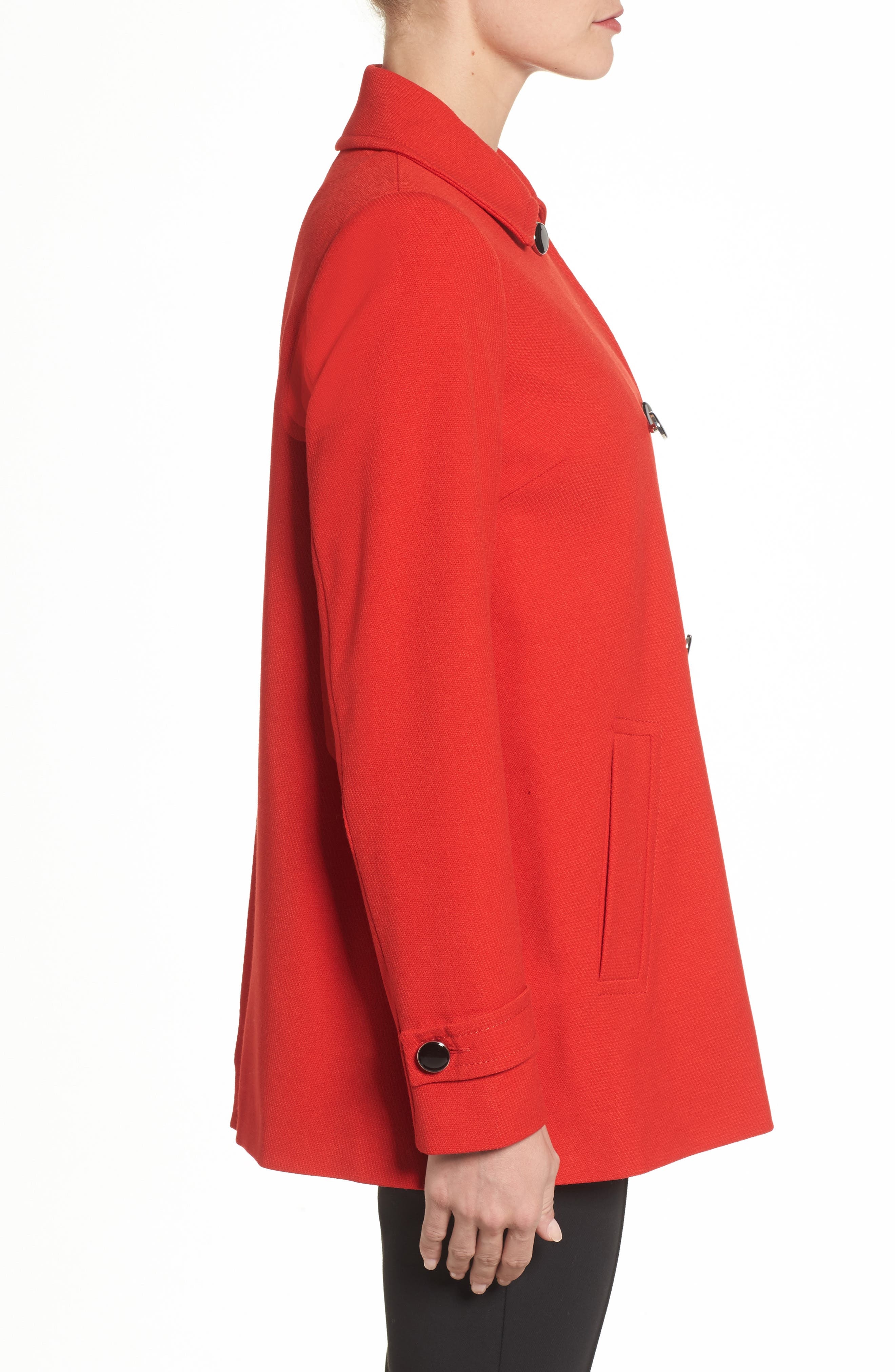 Double Breasted Swing Coat,                             Alternate thumbnail 3, color,