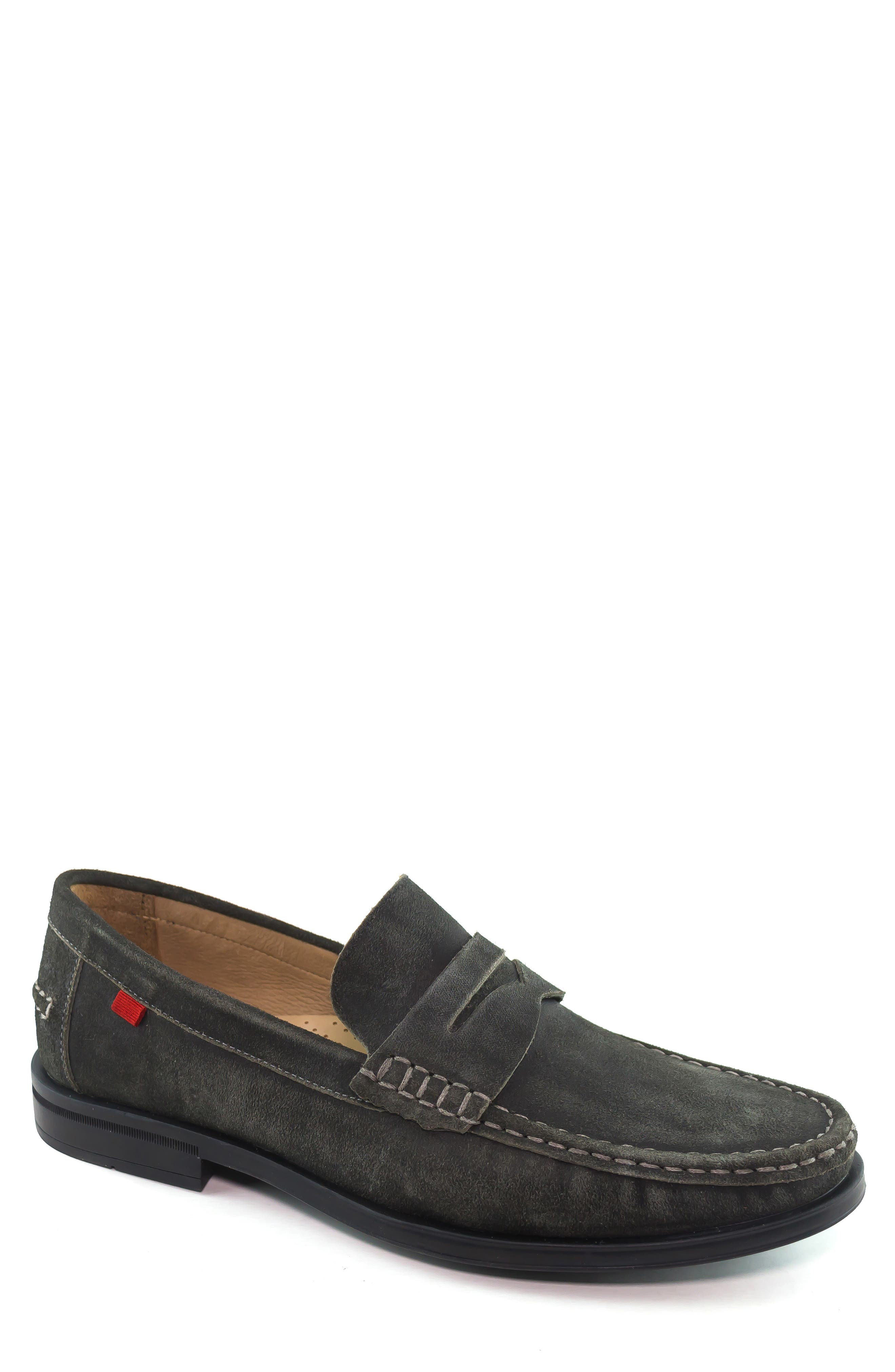 Cortland Penny Loafer,                         Main,                         color, GRAPHITE LEATHER