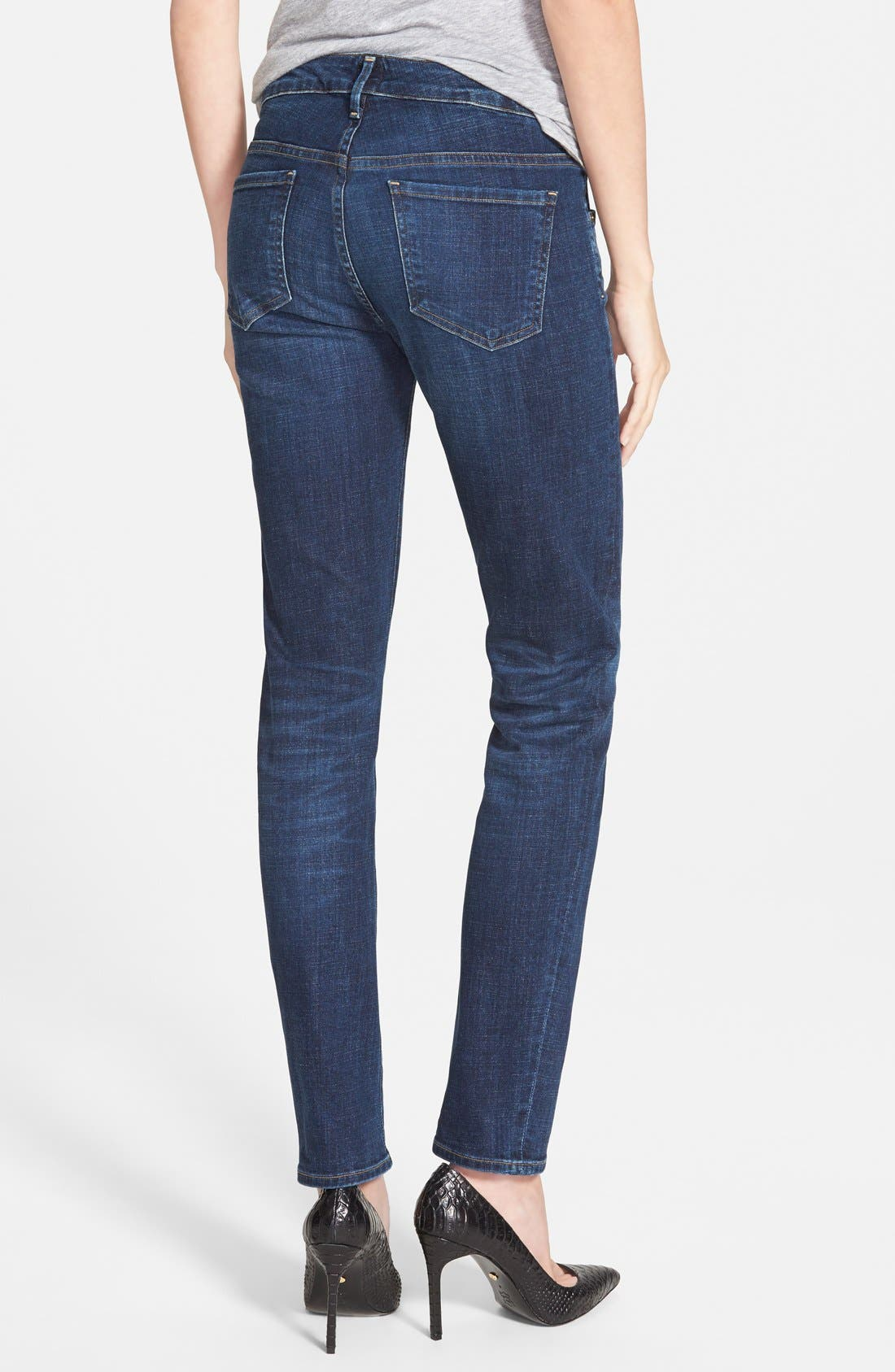 'Arielle' Mid Rise Skinny Jeans,                             Alternate thumbnail 6, color,                             400