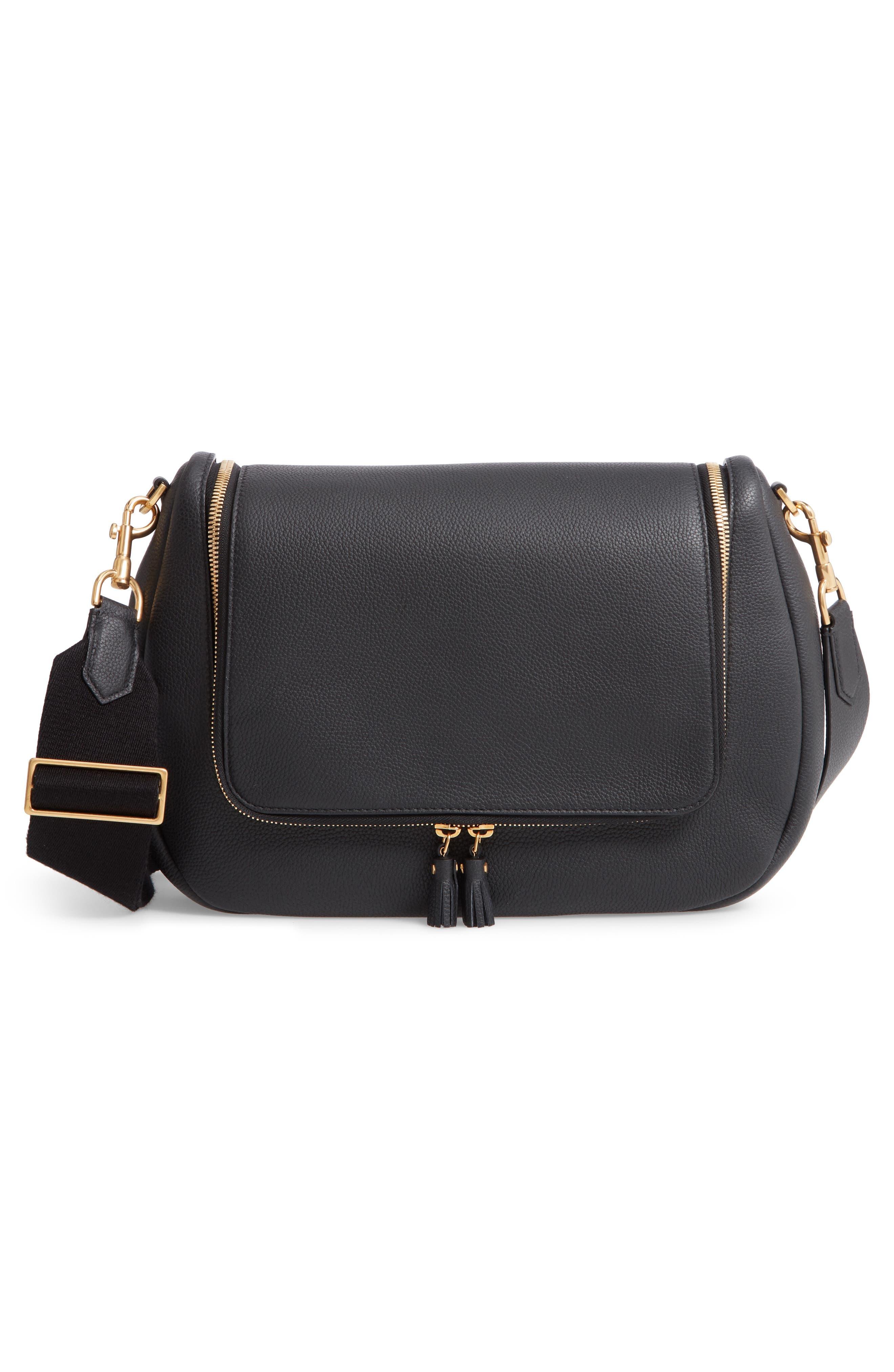 Maxi Vere Soft Satchel Shoulder Bag,                             Alternate thumbnail 3, color,                             BLACK