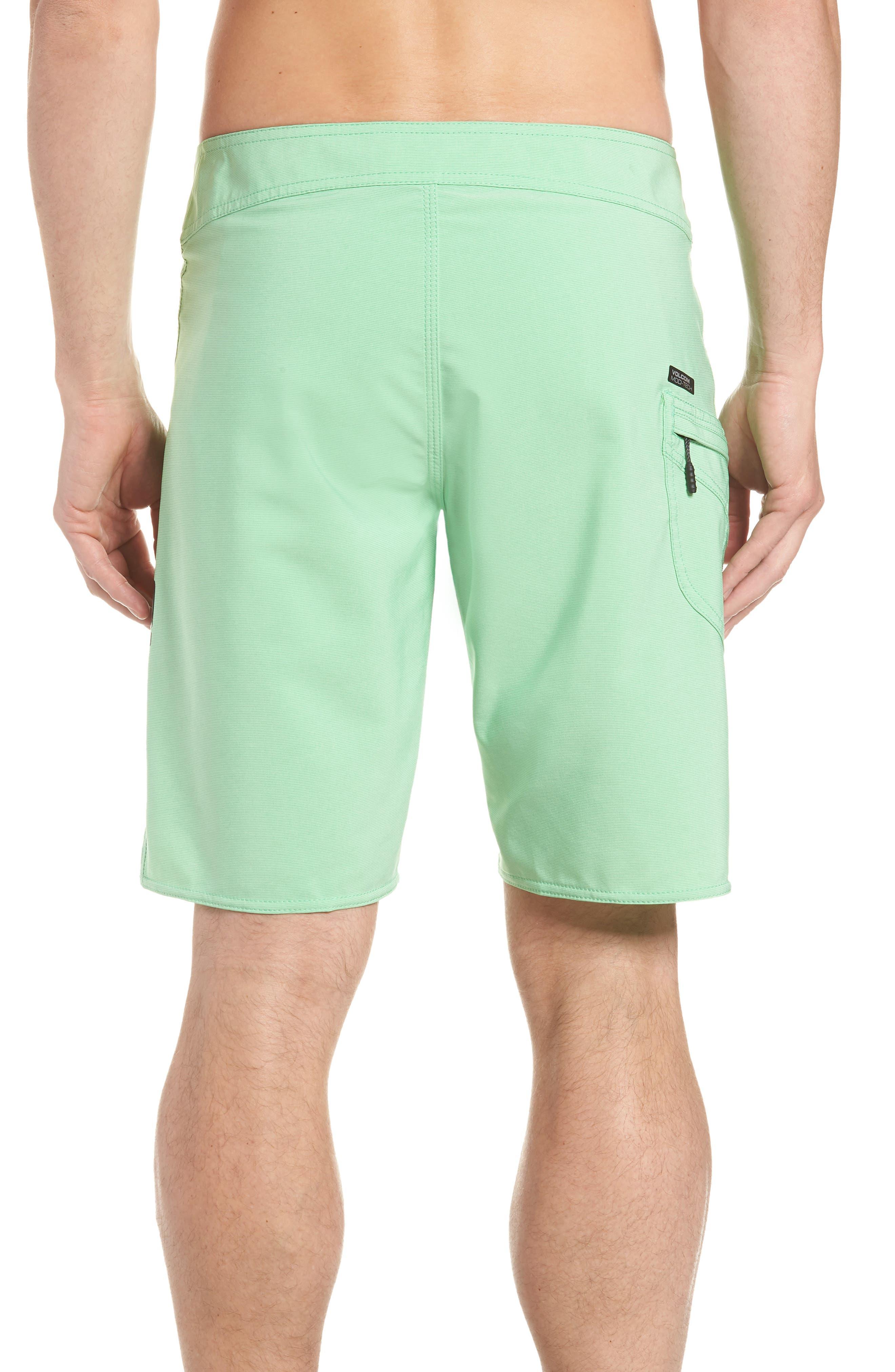 Lido Mod Board Shorts,                             Alternate thumbnail 2, color,                             POISON GREEN