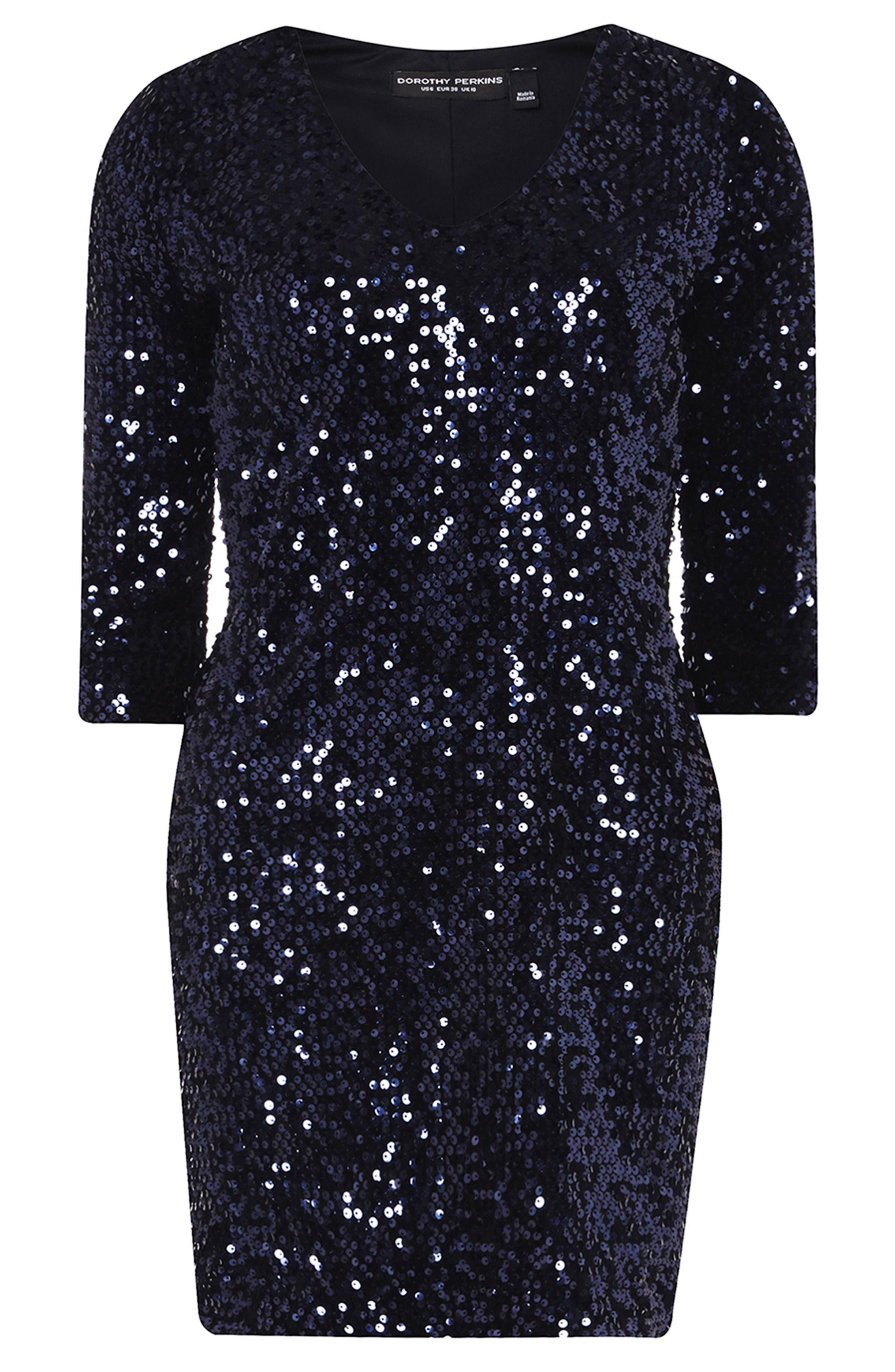Sequin Body-Con Dress,                             Alternate thumbnail 4, color,                             400