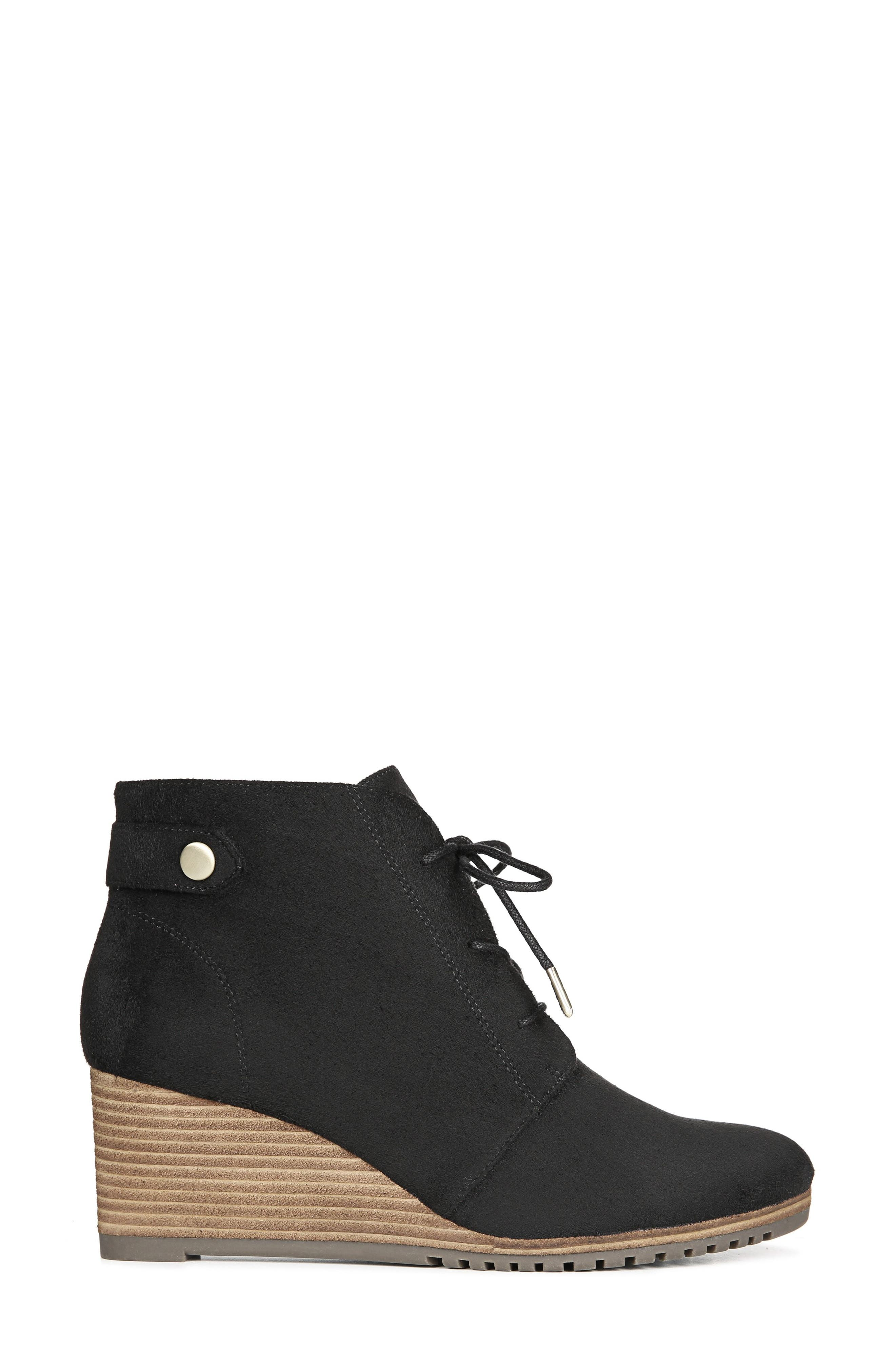 Conquer Wedge Bootie,                             Alternate thumbnail 2, color,                             BLACK FABRIC