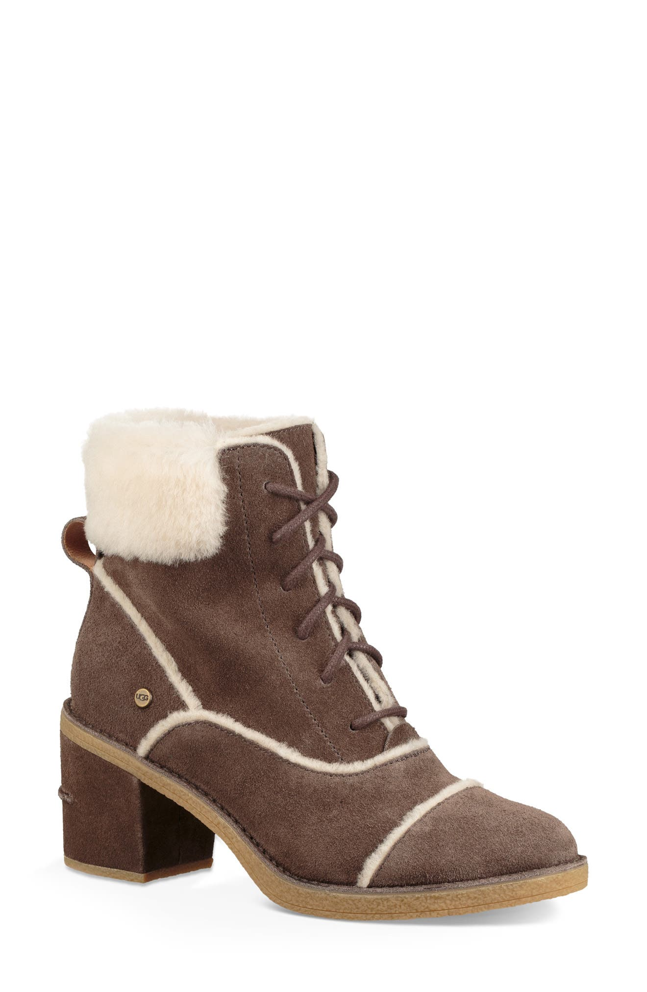 Esterly Genuine Shearling Boot,                         Main,                         color, MYSTERIOUS