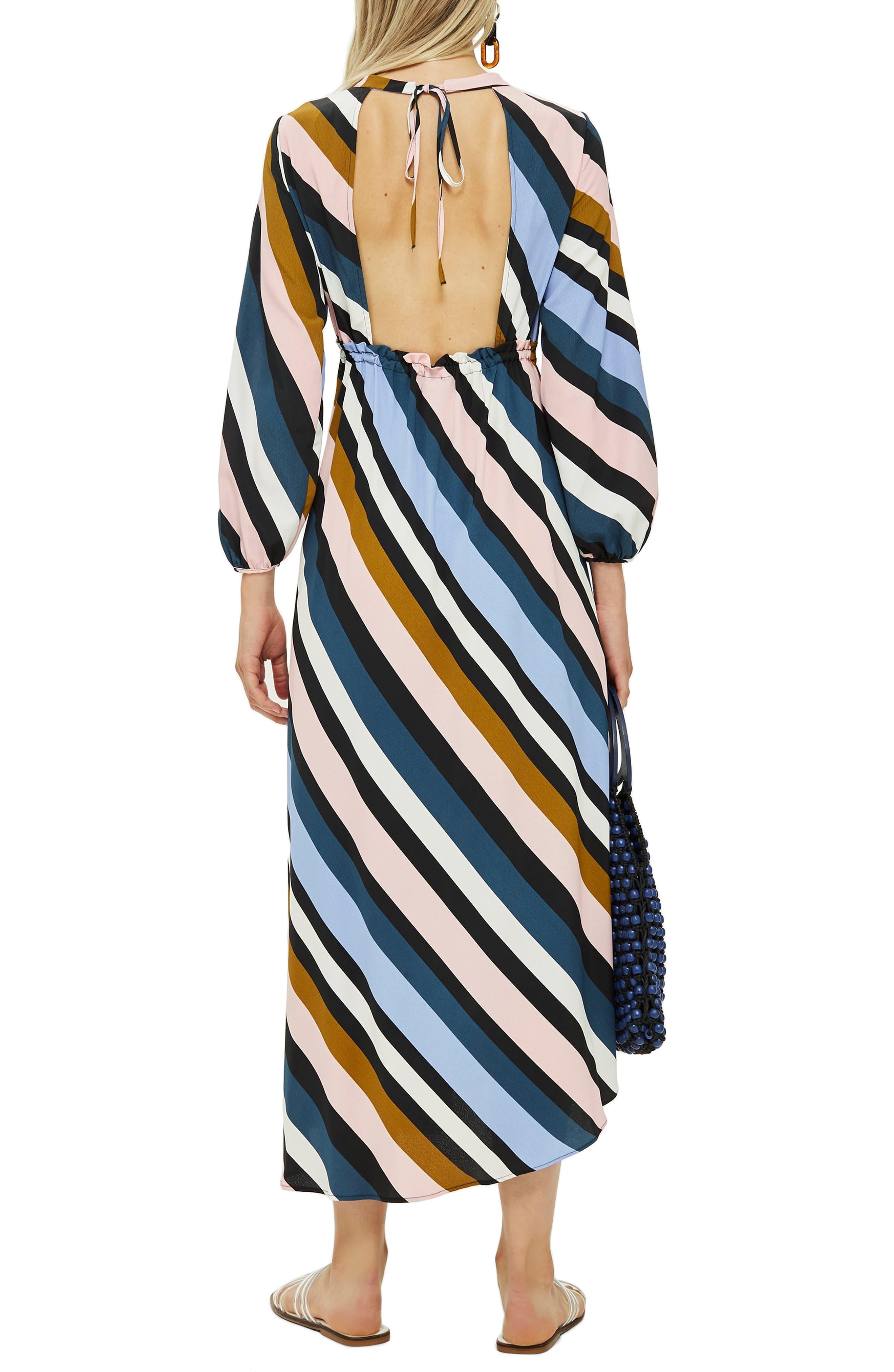 Open Back Midi Dress,                             Alternate thumbnail 2, color,                             460